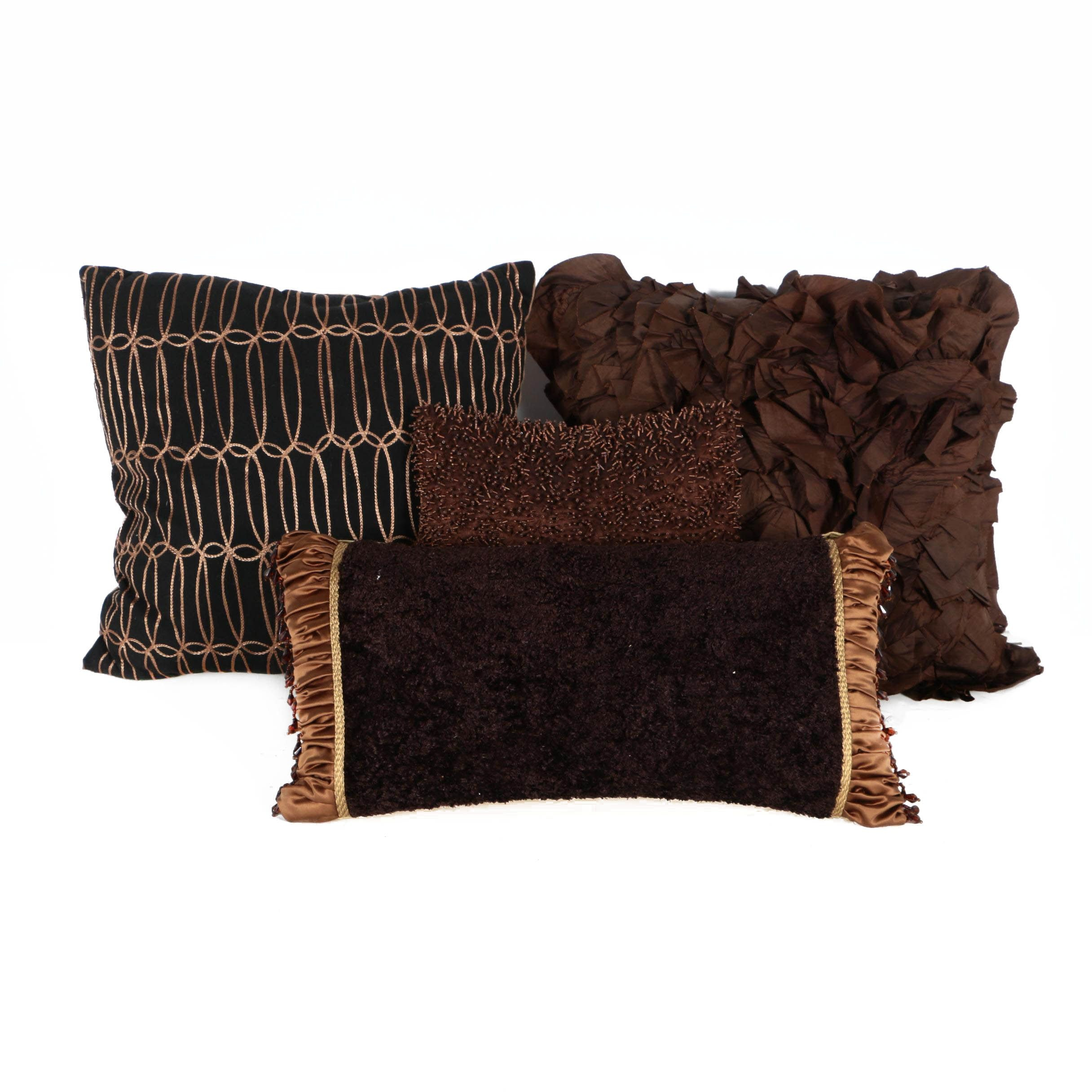 Collection of Four Decorative Throw Pillows