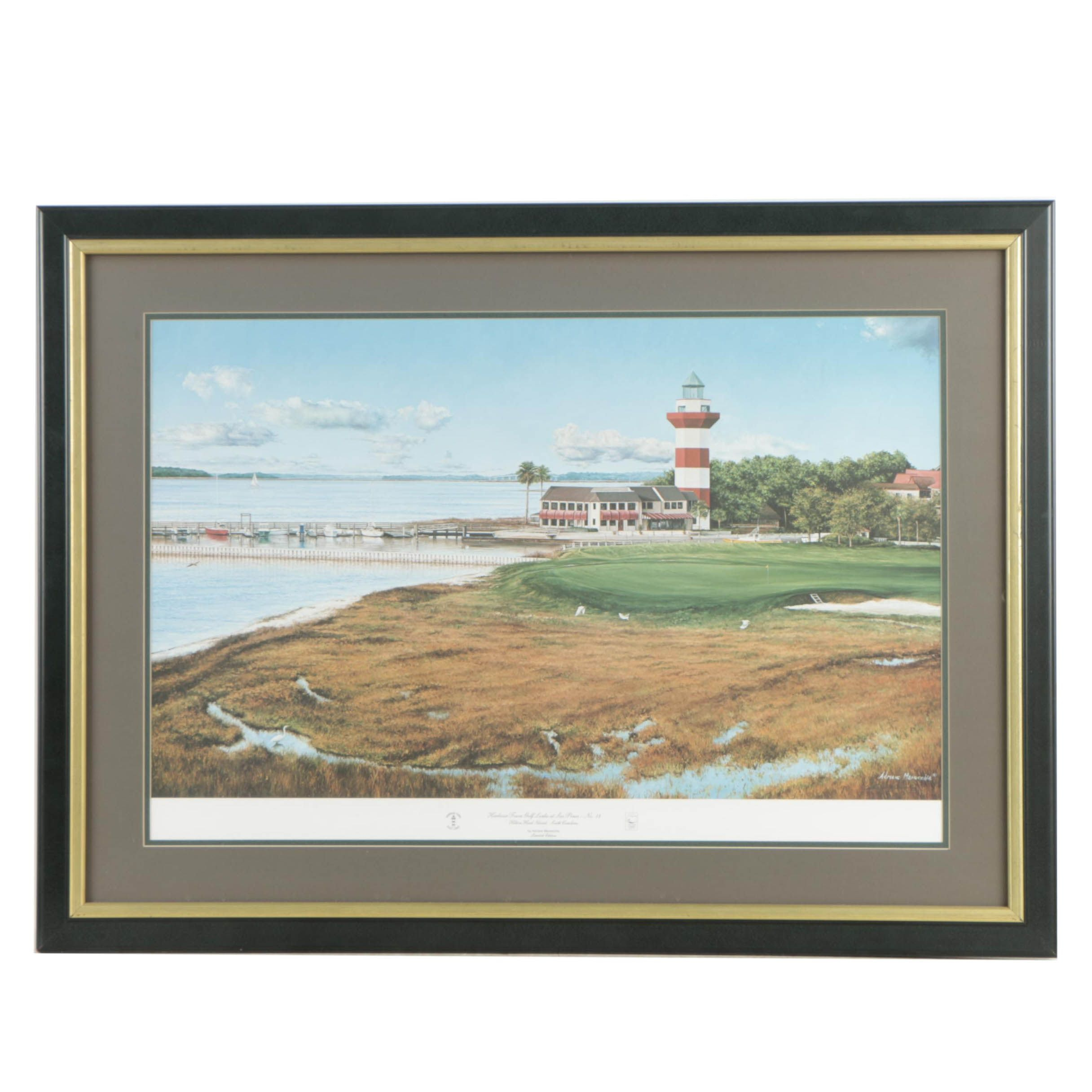 Adriano Manocchia Limited Edition Offset Lithograph of Golf Course