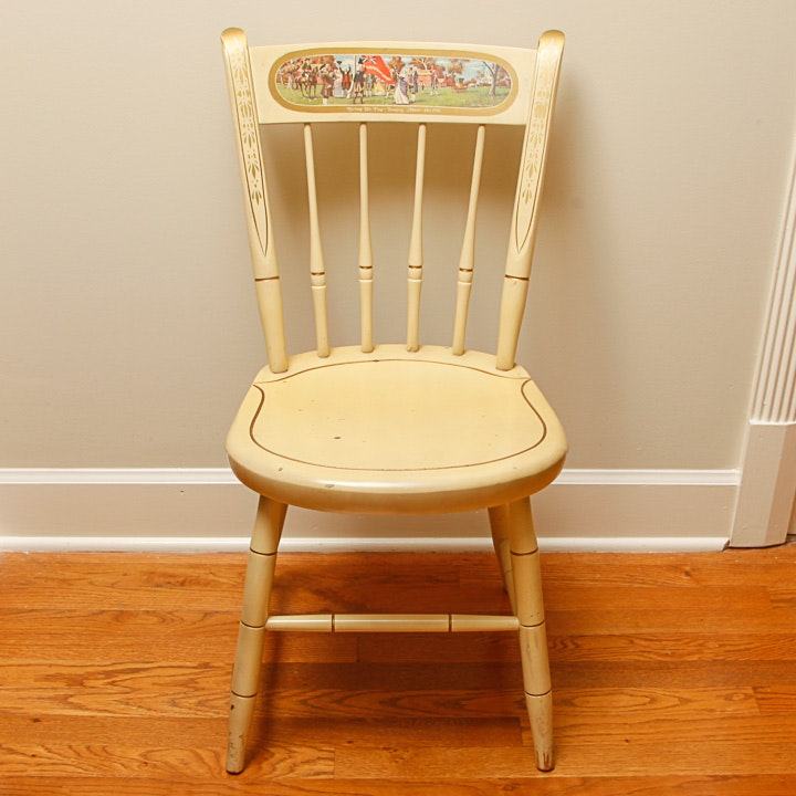 Revolutionary War Themed Windsor Chair by Nichols & Stone Company