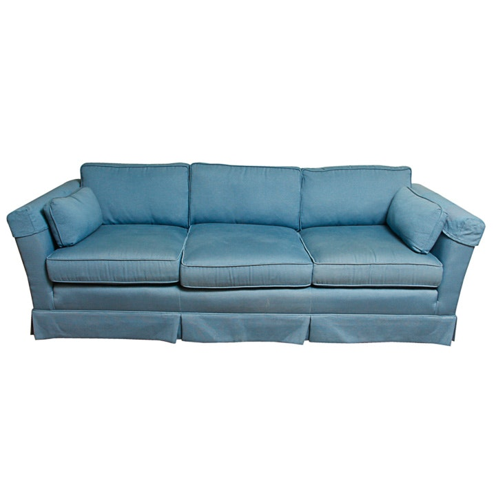 Vintage Blue Sofa by Century