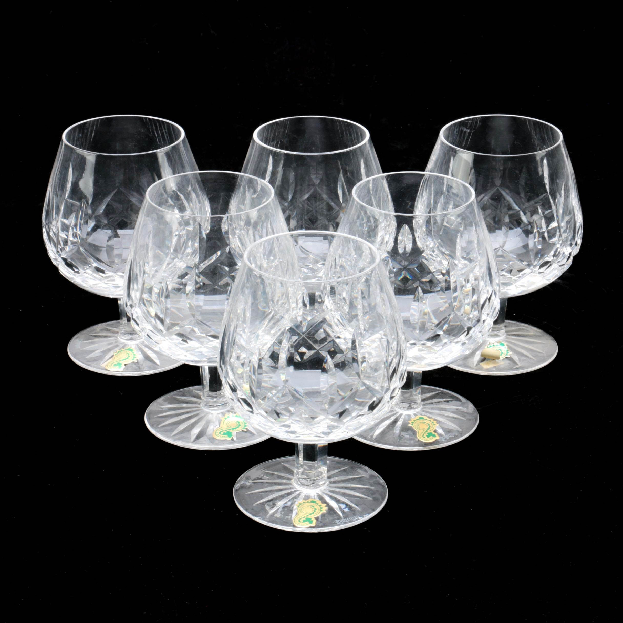 "Waterford Crystal ""Lismore"" Brandy Glasses"