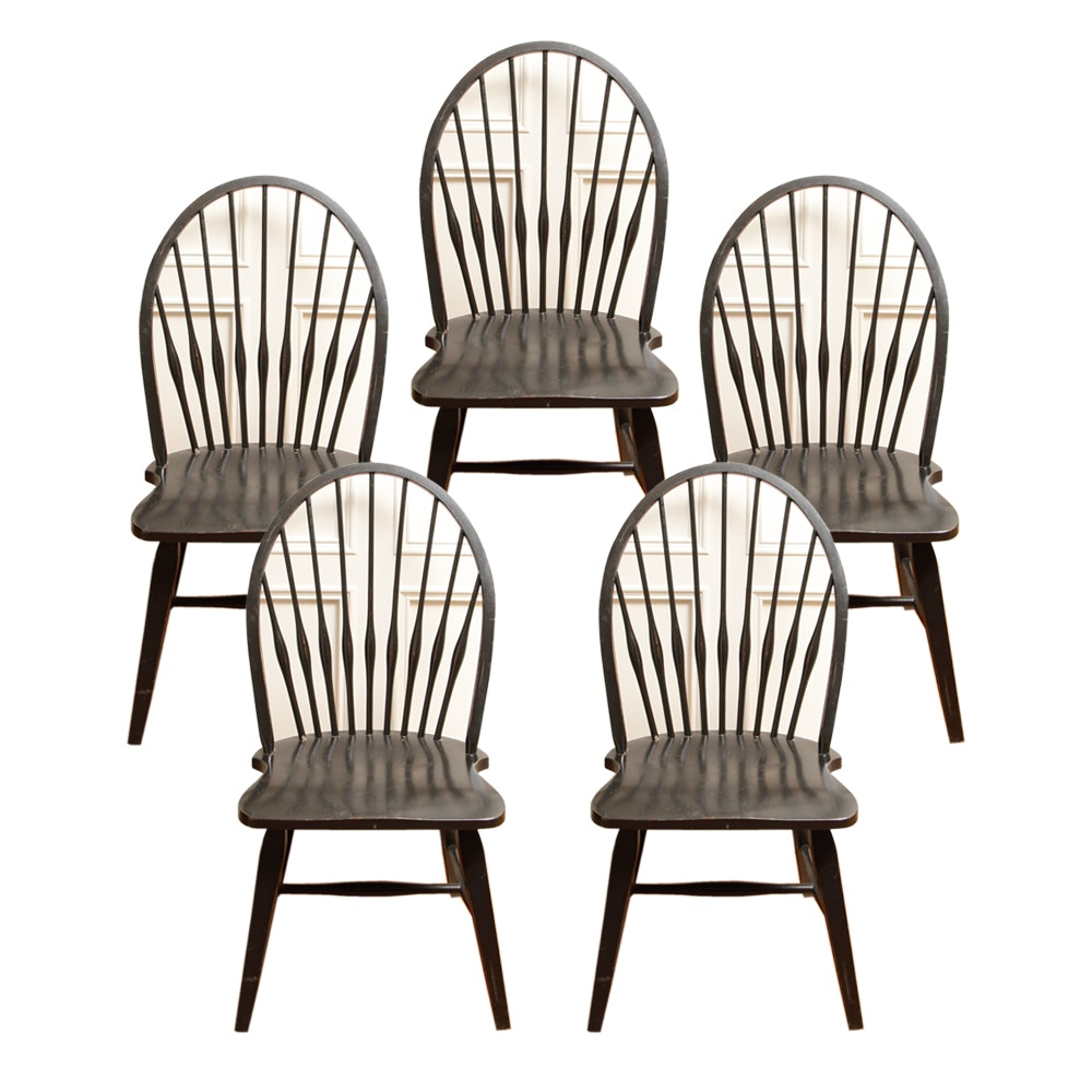 Set of Bow Back Windsor Dining Chairs