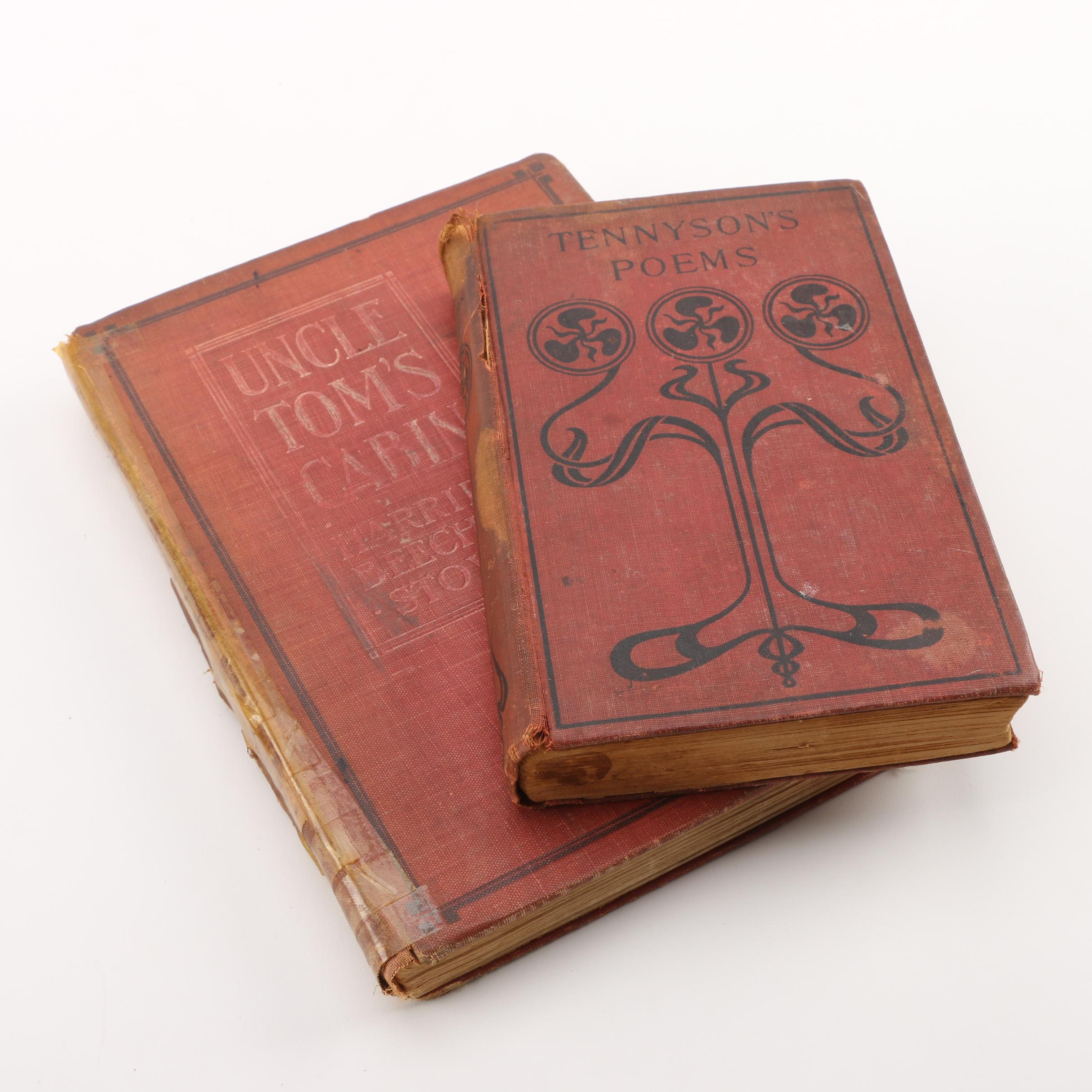 "Vintage ""Tennyson's Poems"" and ""Uncle Tom's Cabin"""