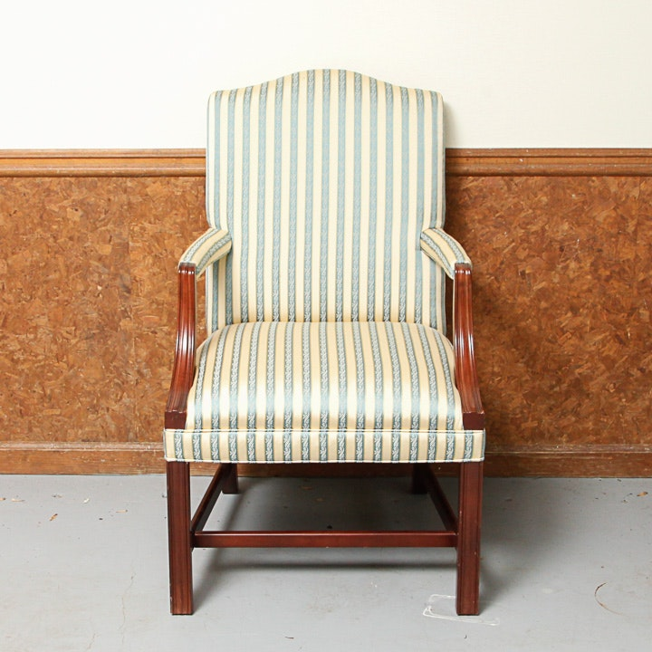 Vintage Chippendale Style Library Chair by Forsyth Furniture