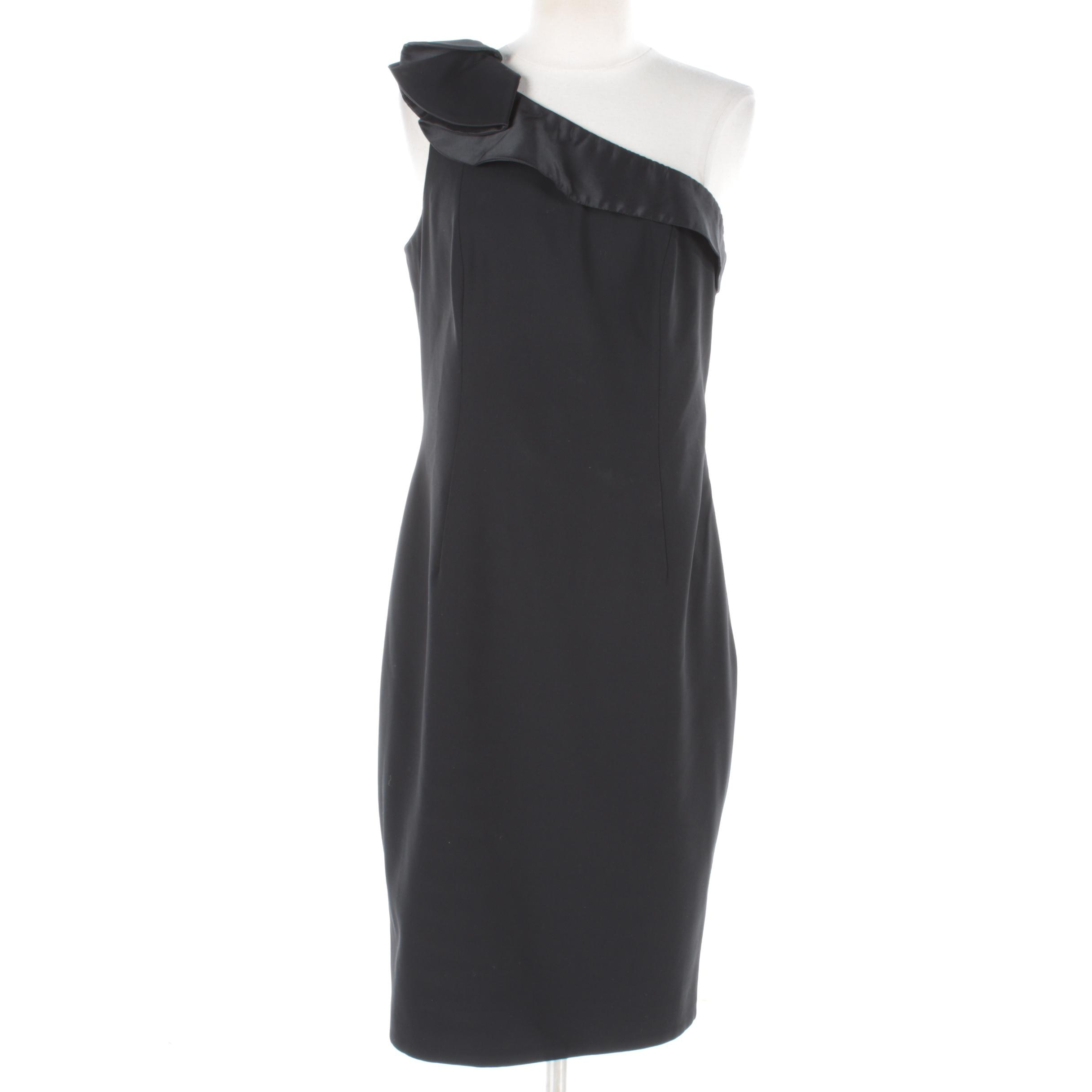 Carmen Marc Valvo Collection Black Cocktail Dress