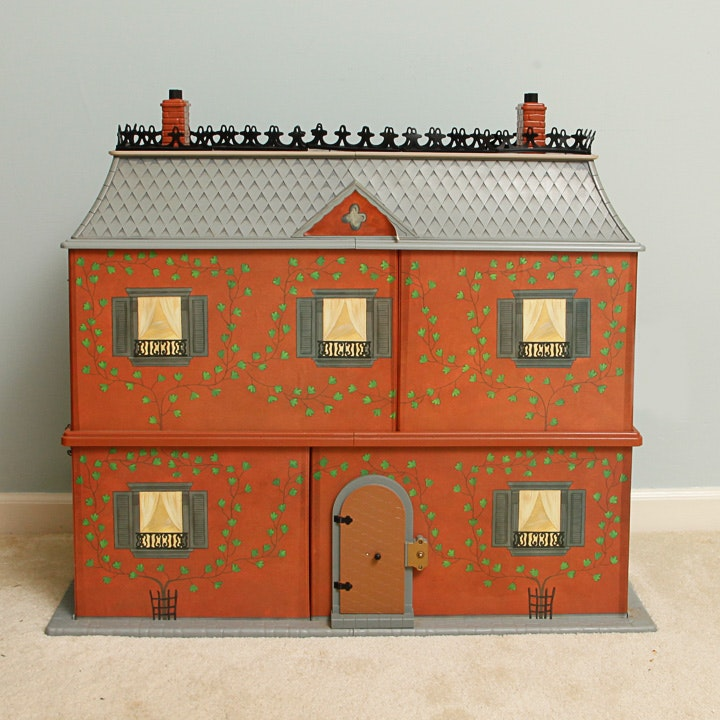 """Vintage Eden """"Madeline's Old House in Paris"""" Furnished Dollhouse"""