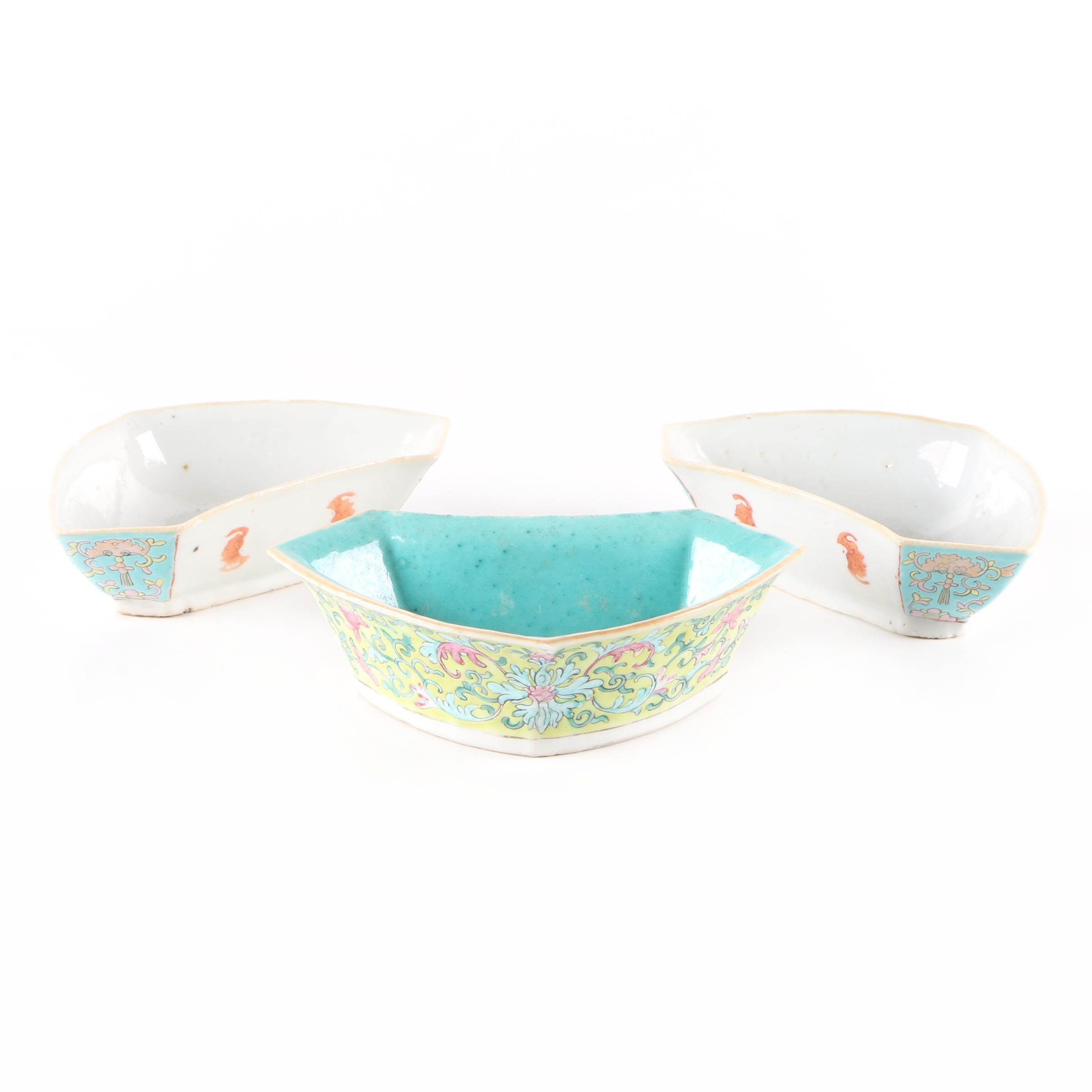 Antique and Vintage Chinese Enameled Porcelain Bowls