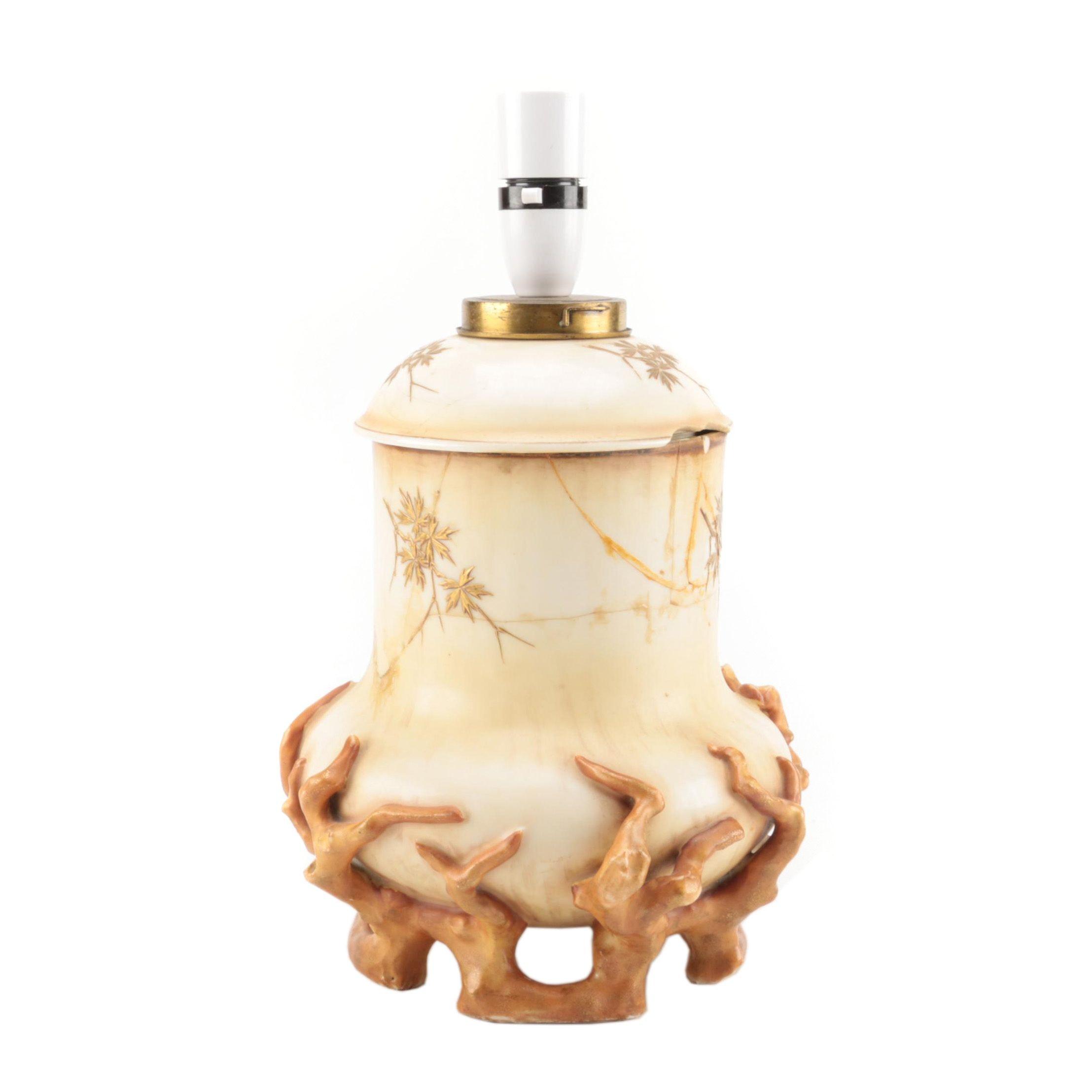 Antique English Porcelain Accent Lamp