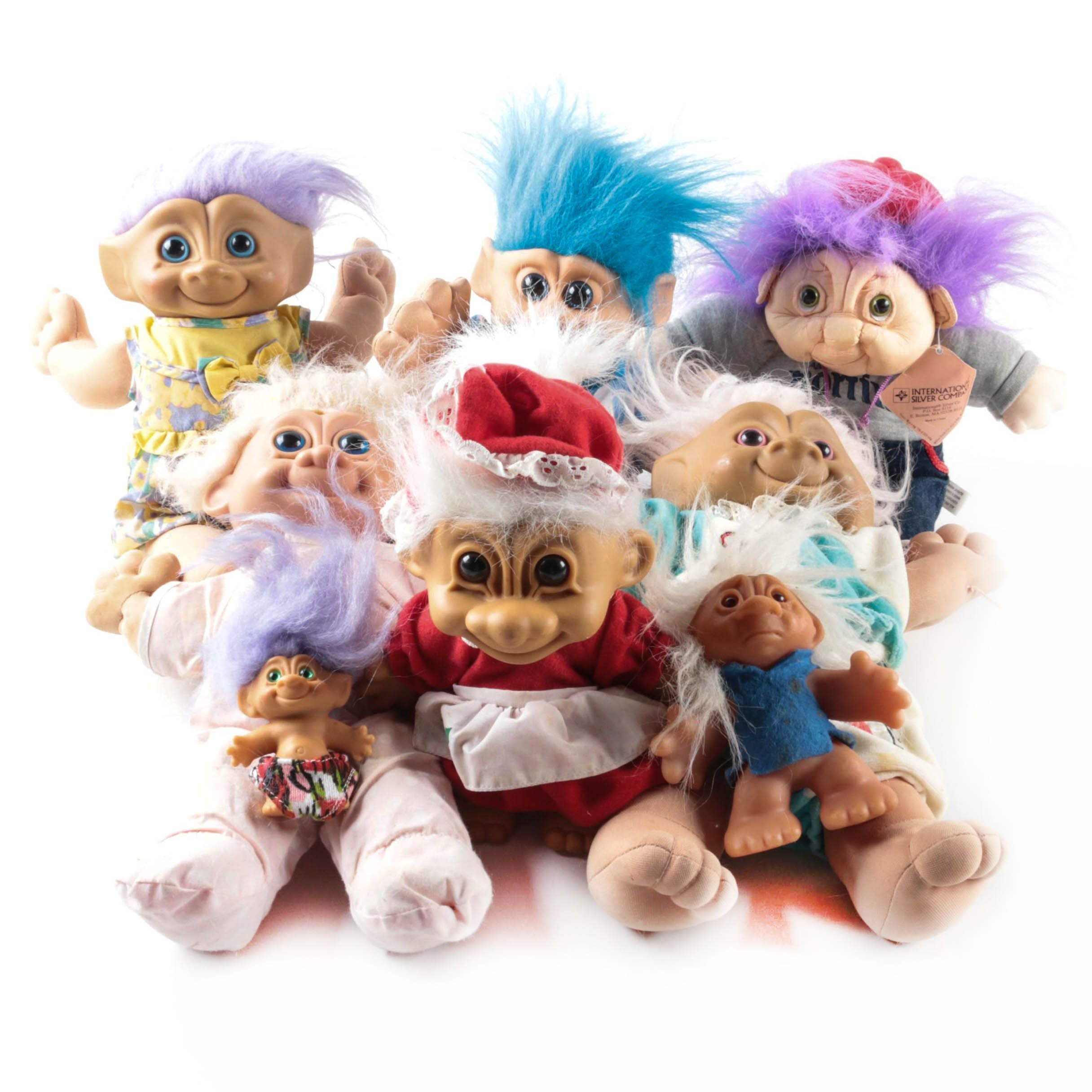 """Vintage Russ and ABC Novelty """"Troll"""" Dolls"""