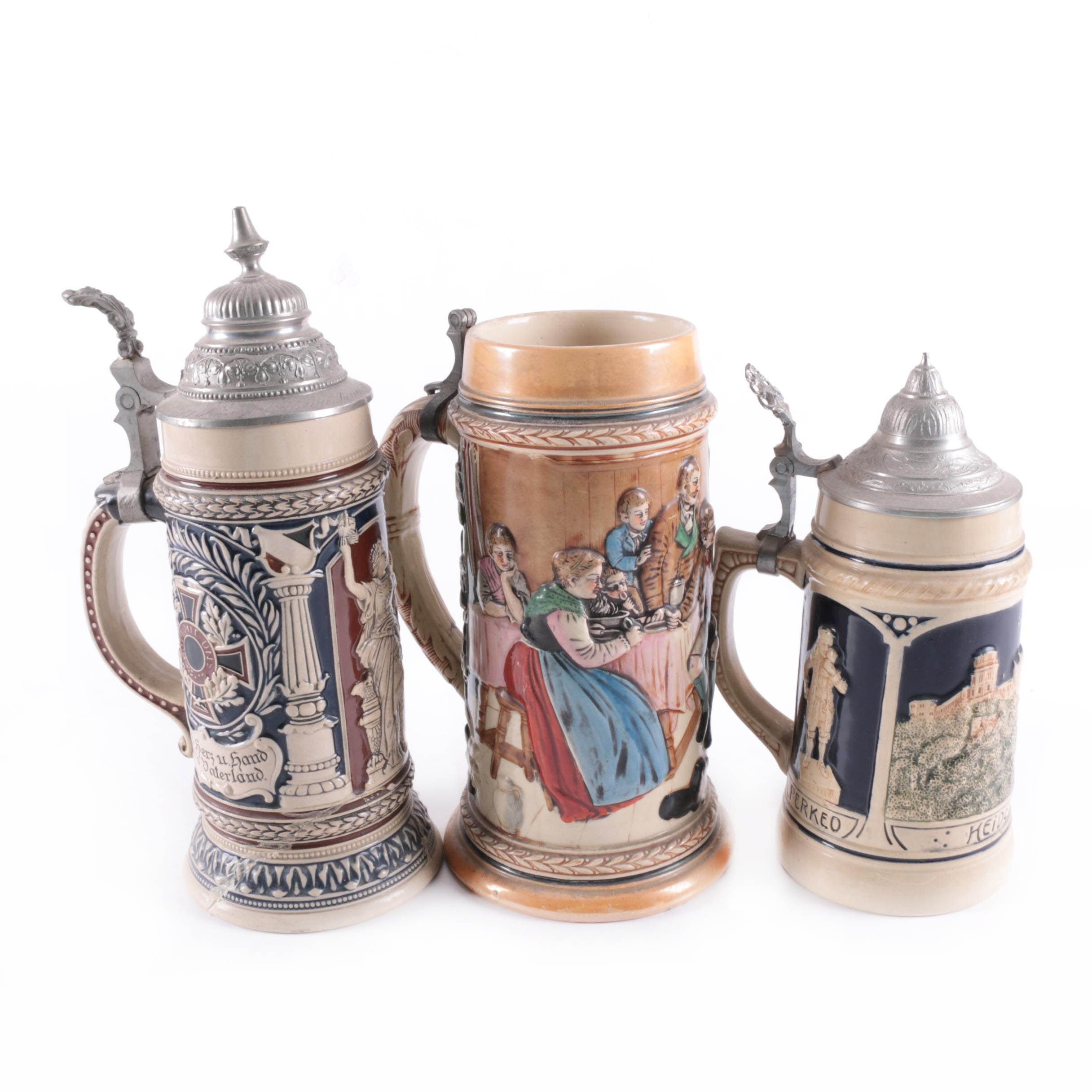 Embossed Beer Steins