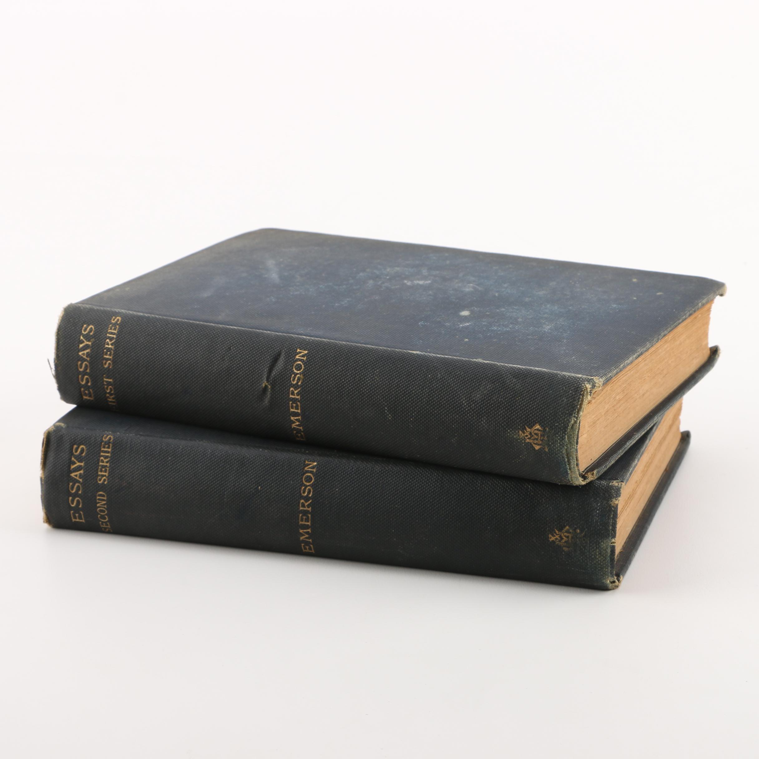 "1883 ""Essays"" by Ralph Waldo Emerson"