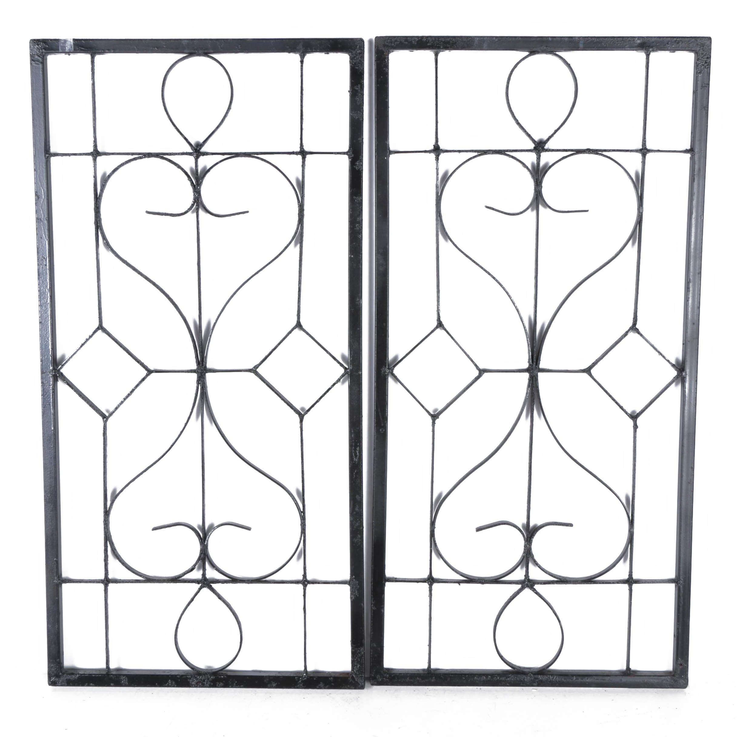 Black Iron and Metal Decorative Panels