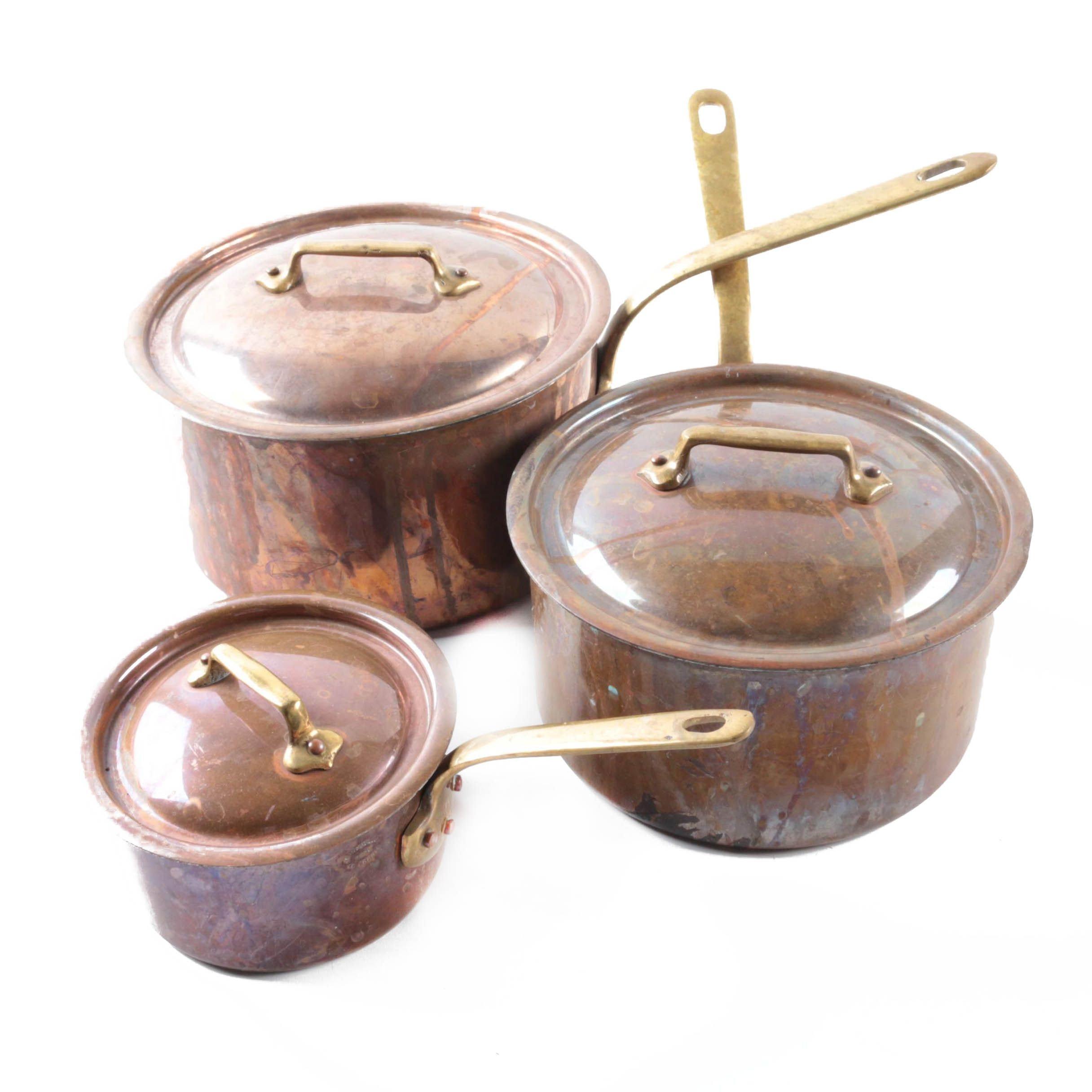Jean Matillon Copper Saucepans
