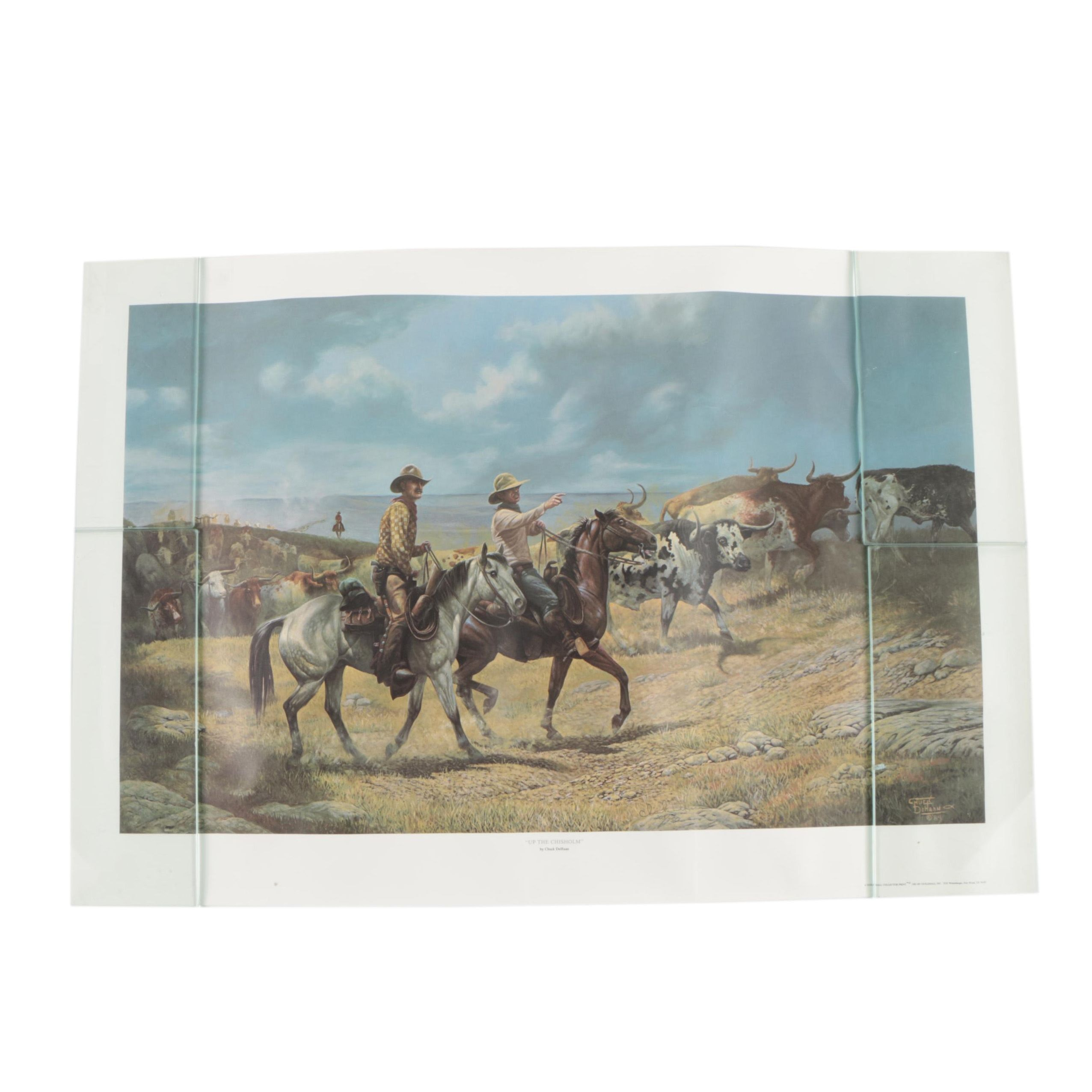"""Chuck DeHaan Limited Edition Offset Lithograph """"Up The Chisholm"""""""