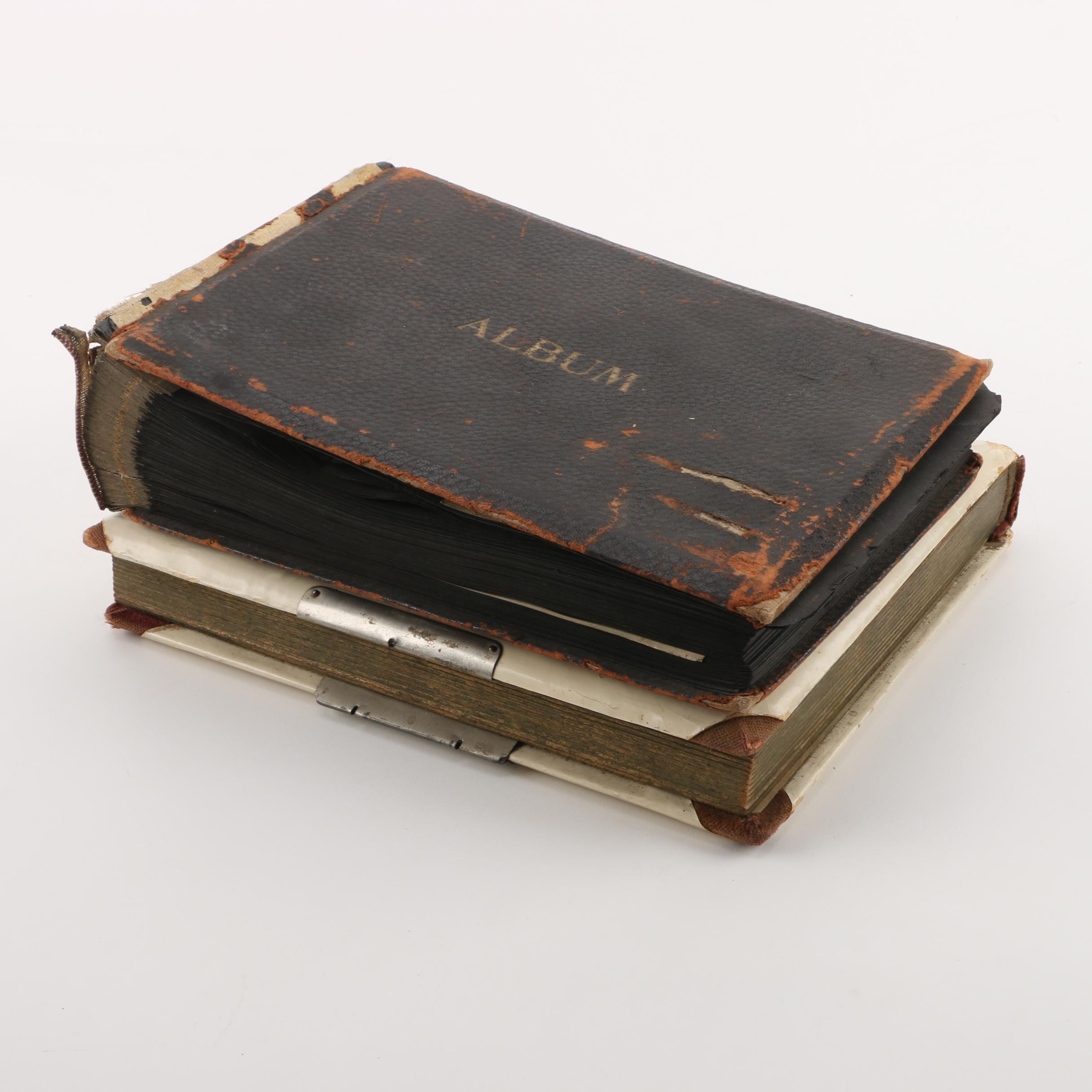 Pair of Semi-Antique Photo Albums with Family Photos
