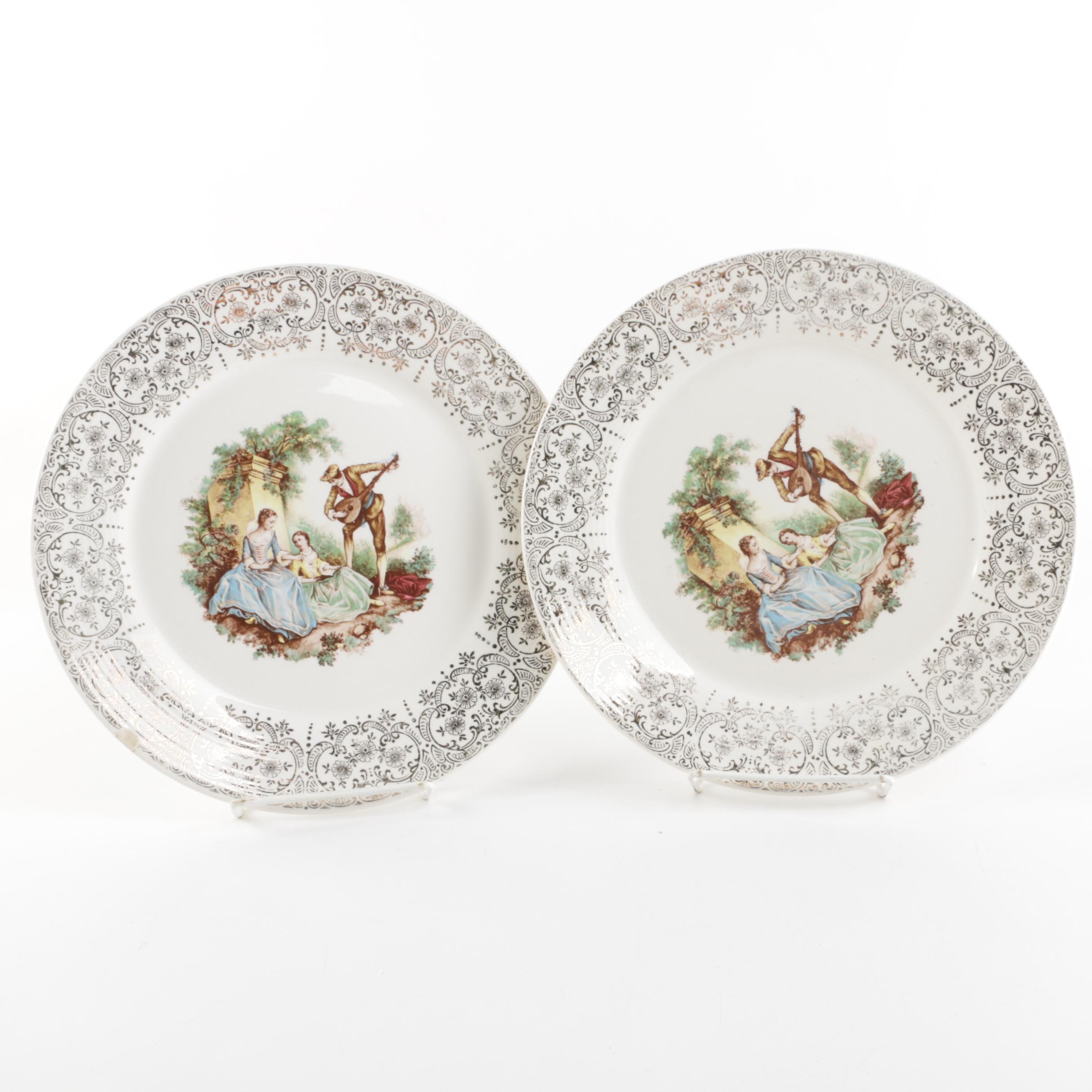 """Vintage American Limoges """"China D'Or"""" Porcelain Plates"""