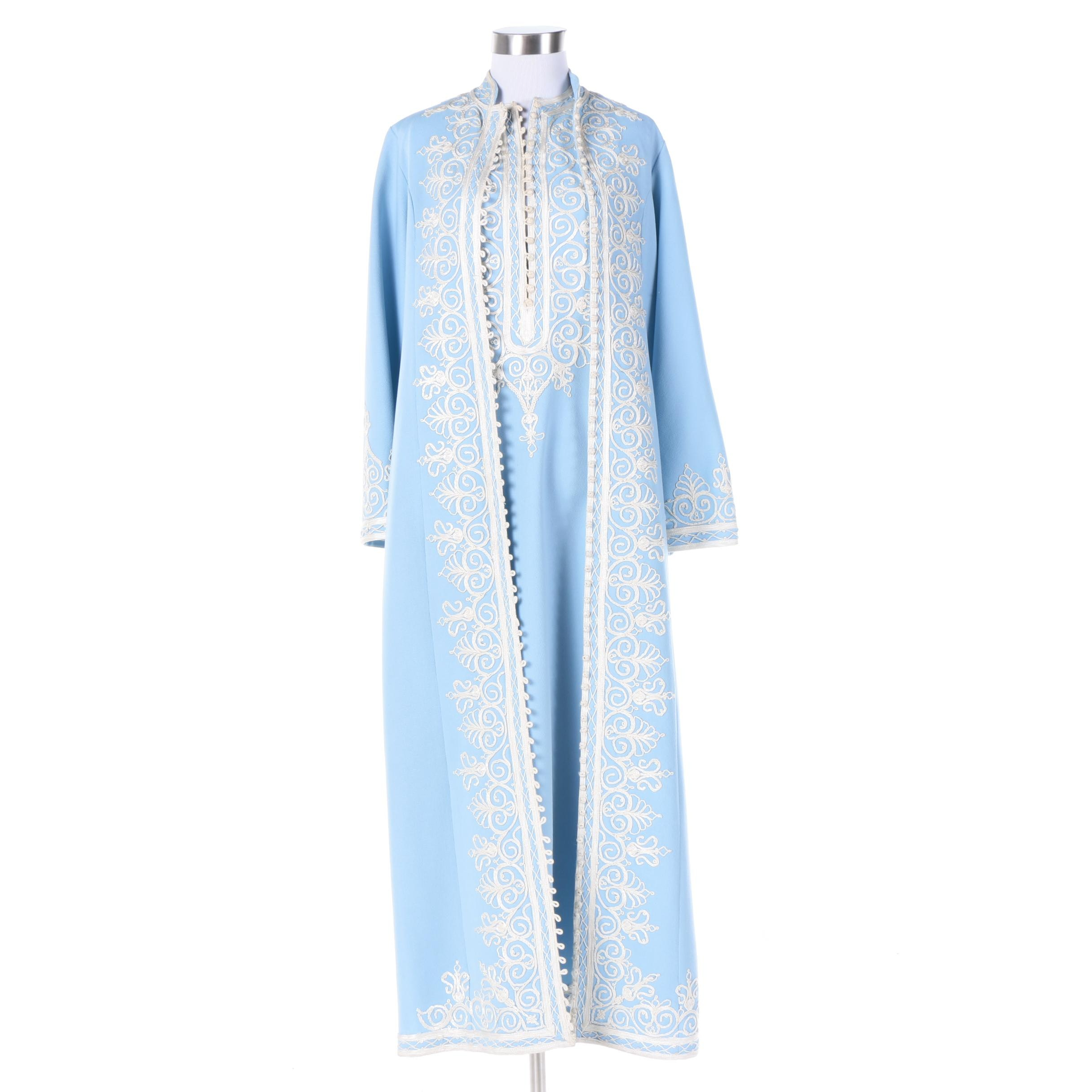 Women's Embroidered Tunic Dress and Matching Dress Coat