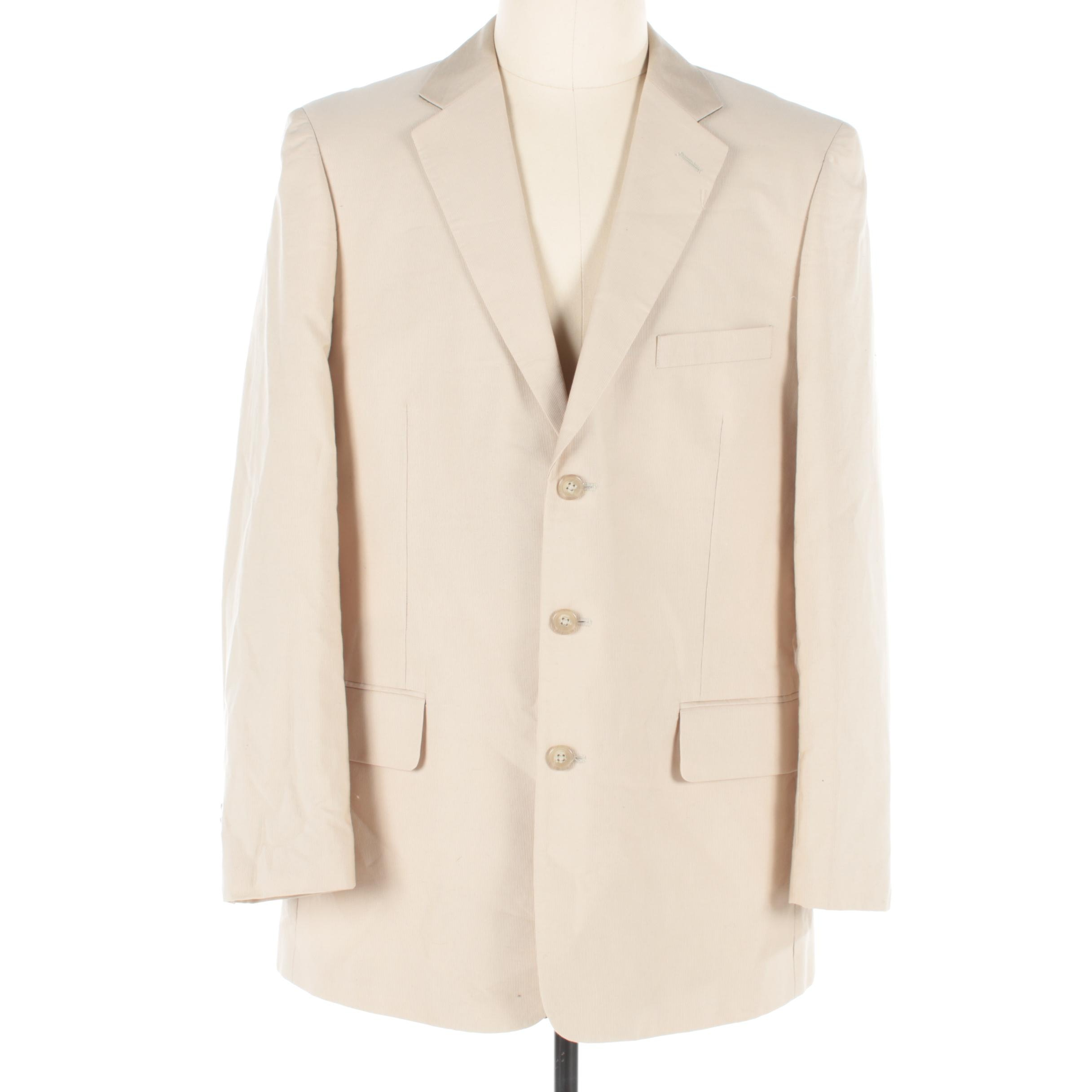 Men's Parisian Signature Linen Suit Jacket
