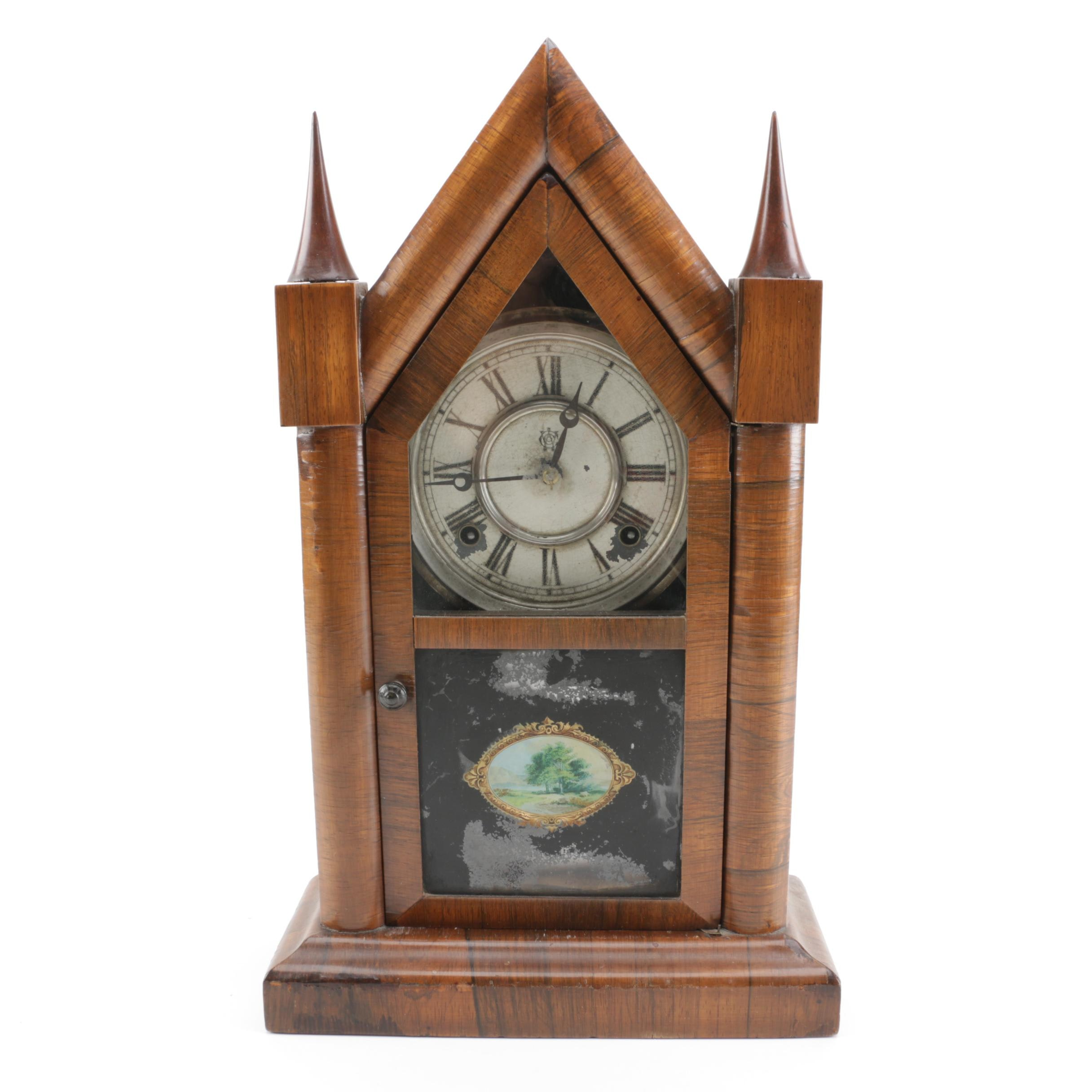 19th Century Waterbury Clock Co. Steeple Mantel Clock