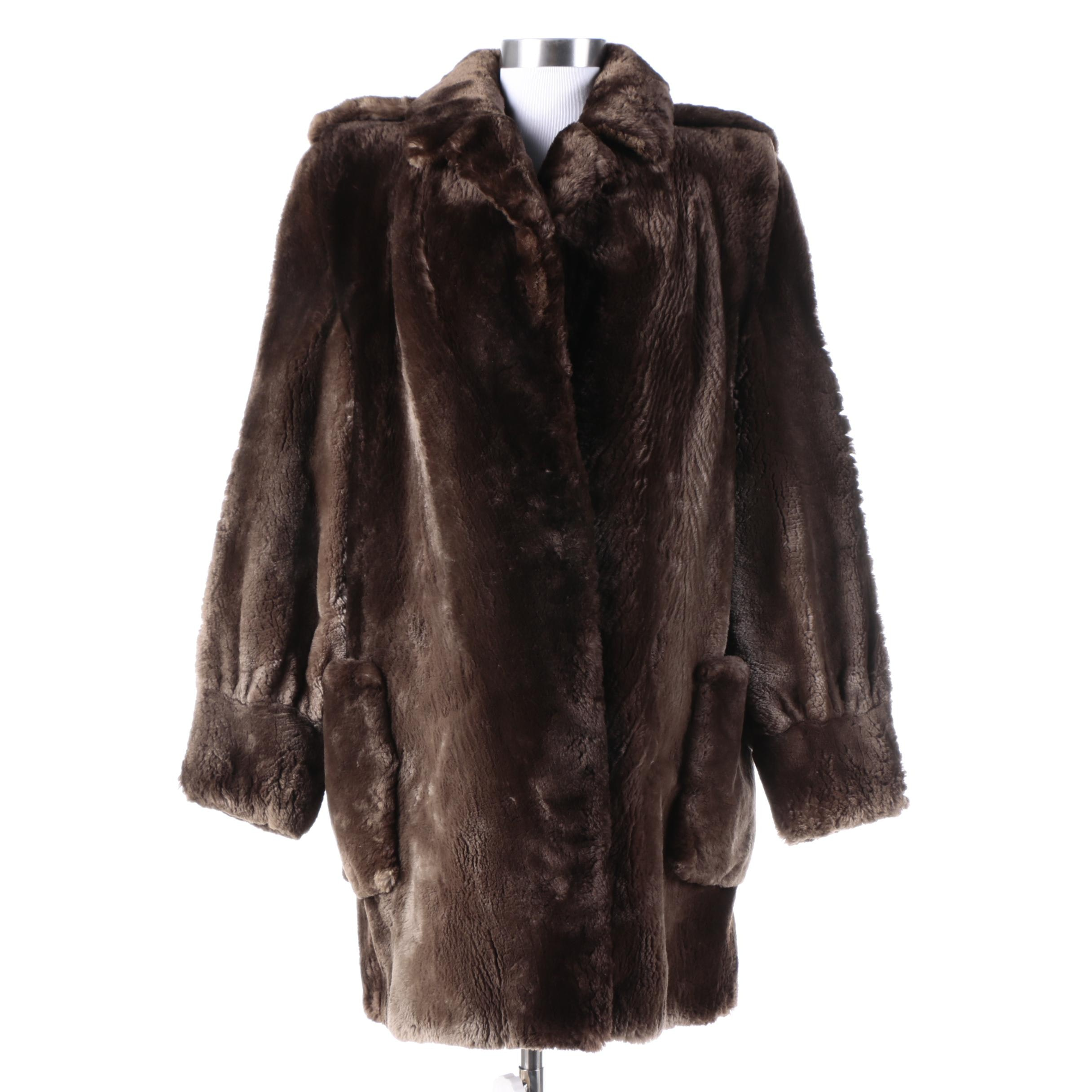 Women's Vintage Beaver Fur Coat