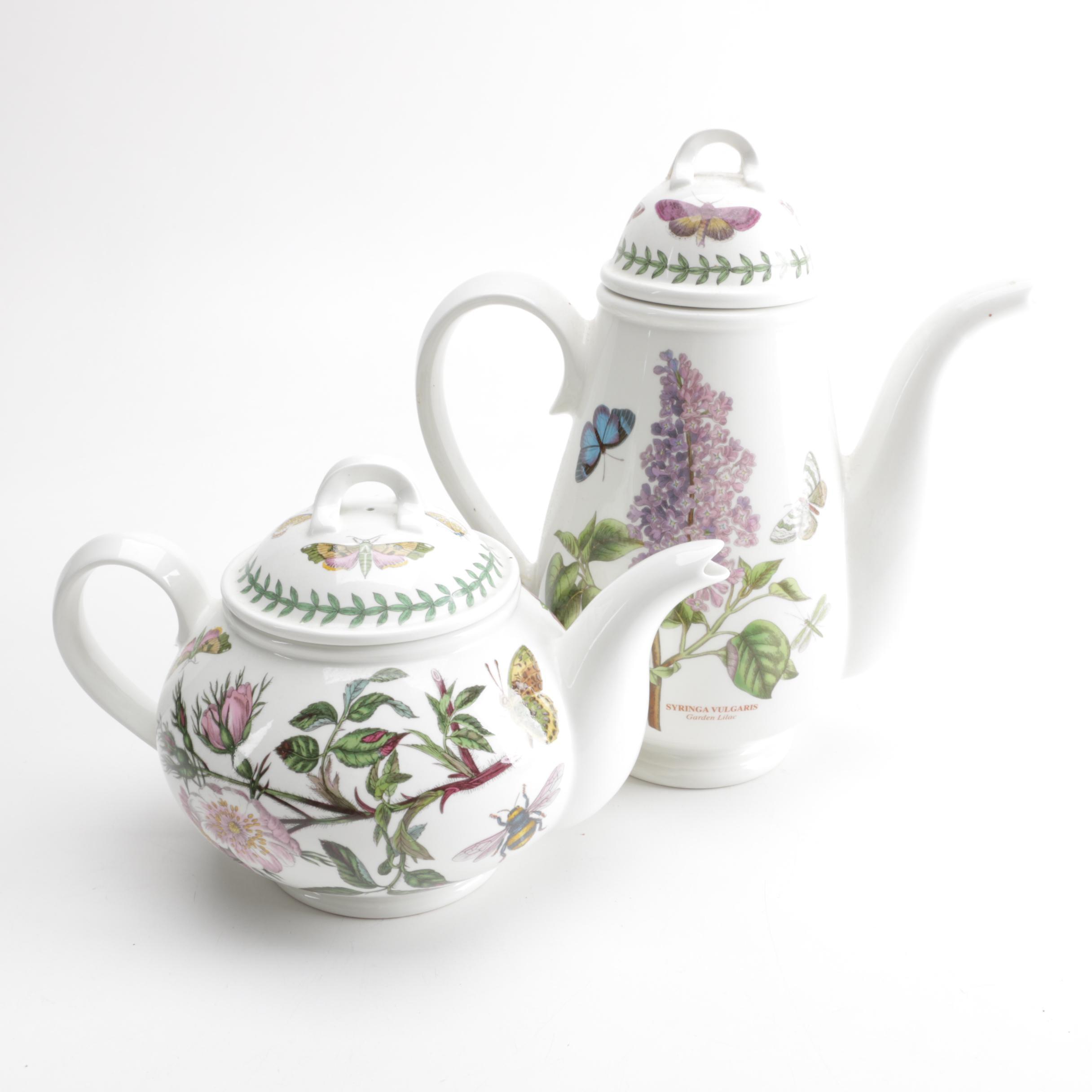 """Portmeirion """"Botanic Garden"""" Coffee Pot and Tea Pot"""