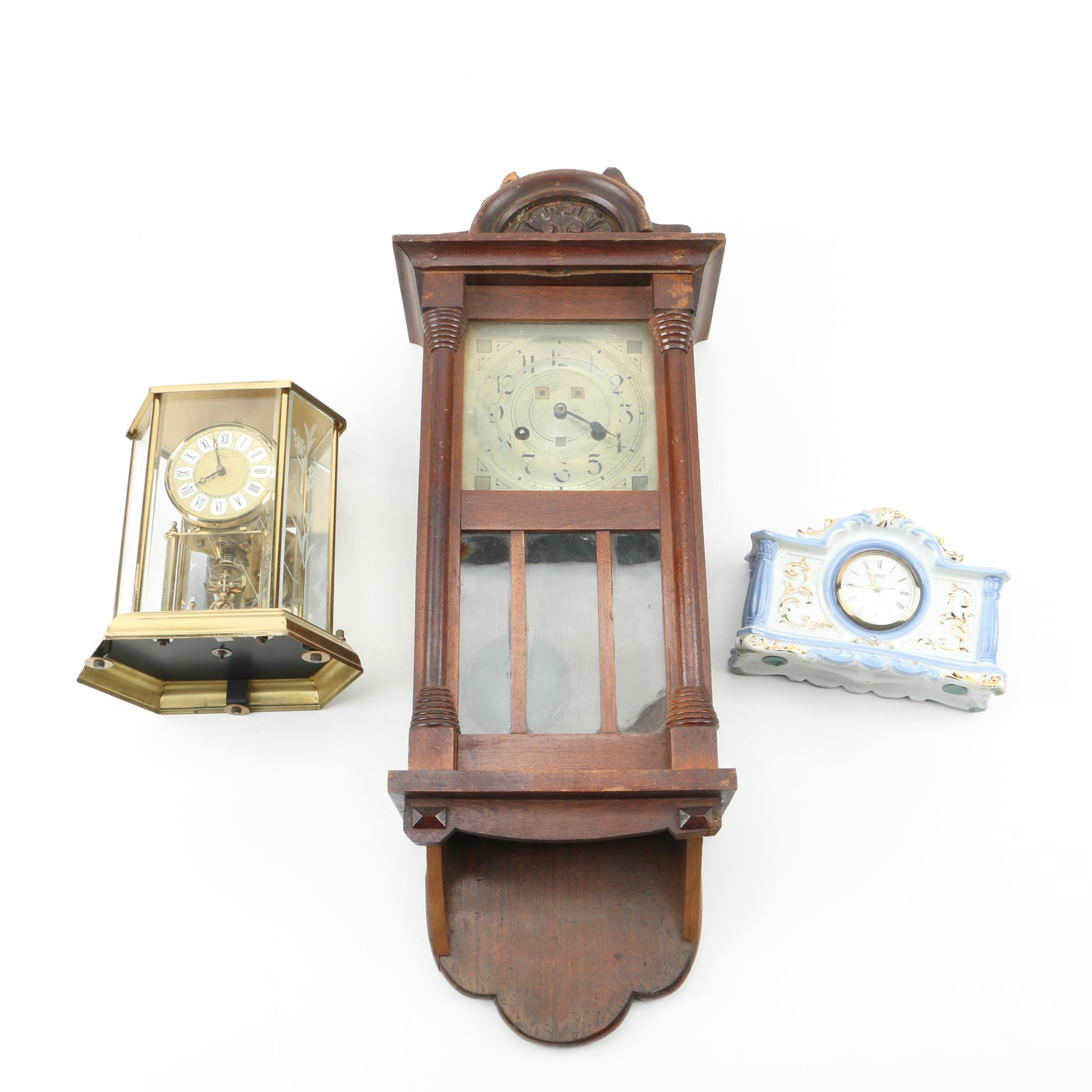 Wall and Mantel Clocks Featuring Alaron and Elgin
