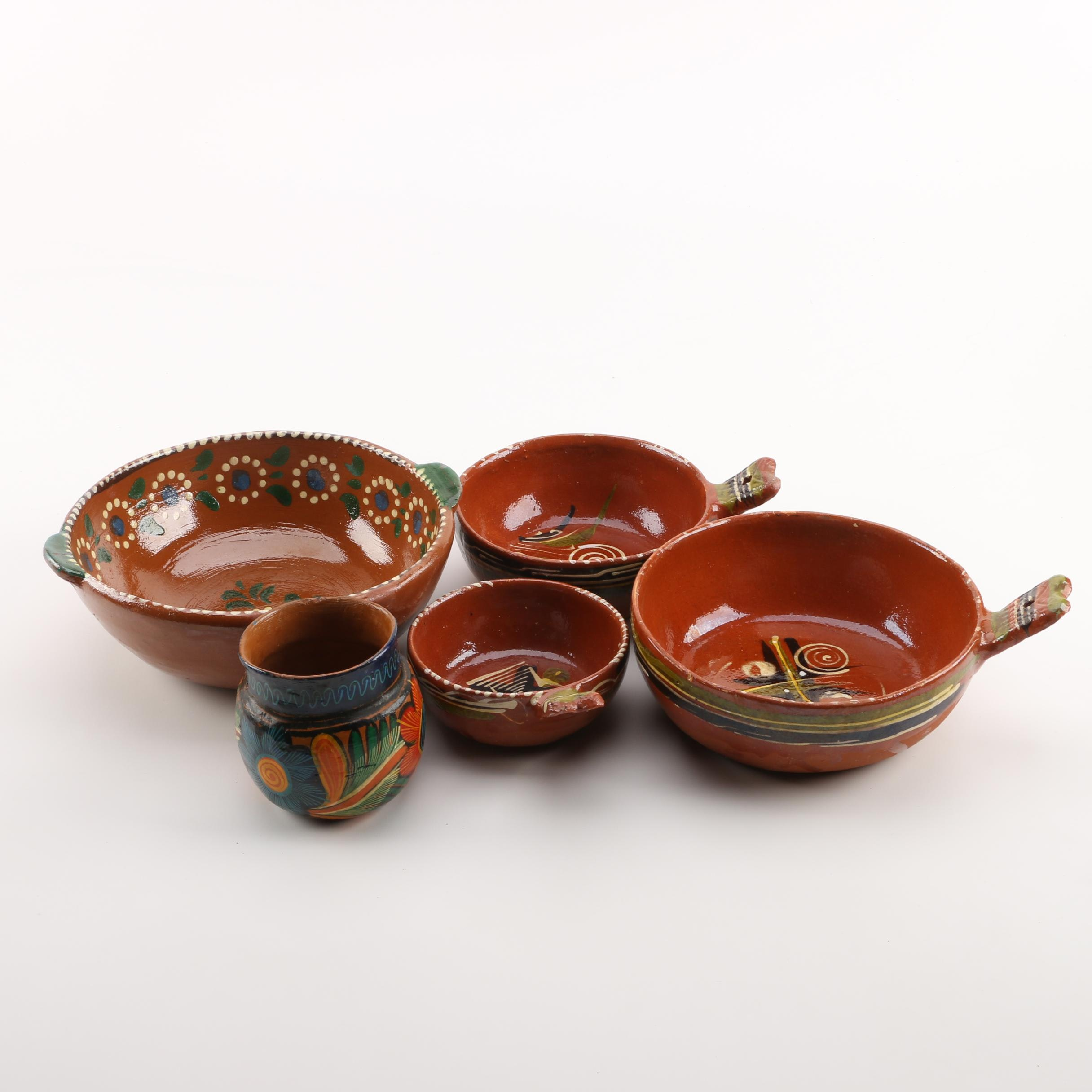 Vintage Mexican Terracotta Bowls
