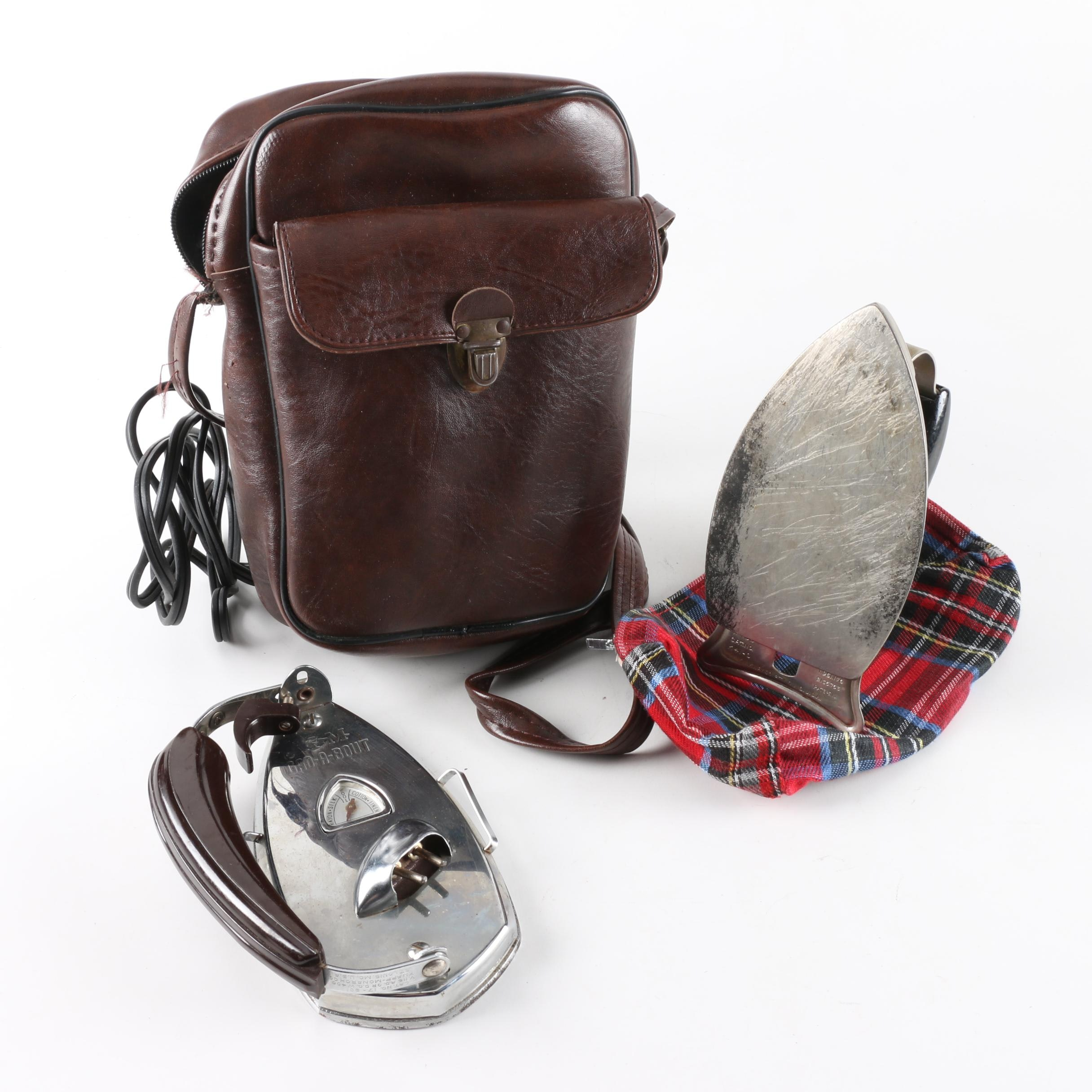 Vintage Clothing Irons and Carrying Case