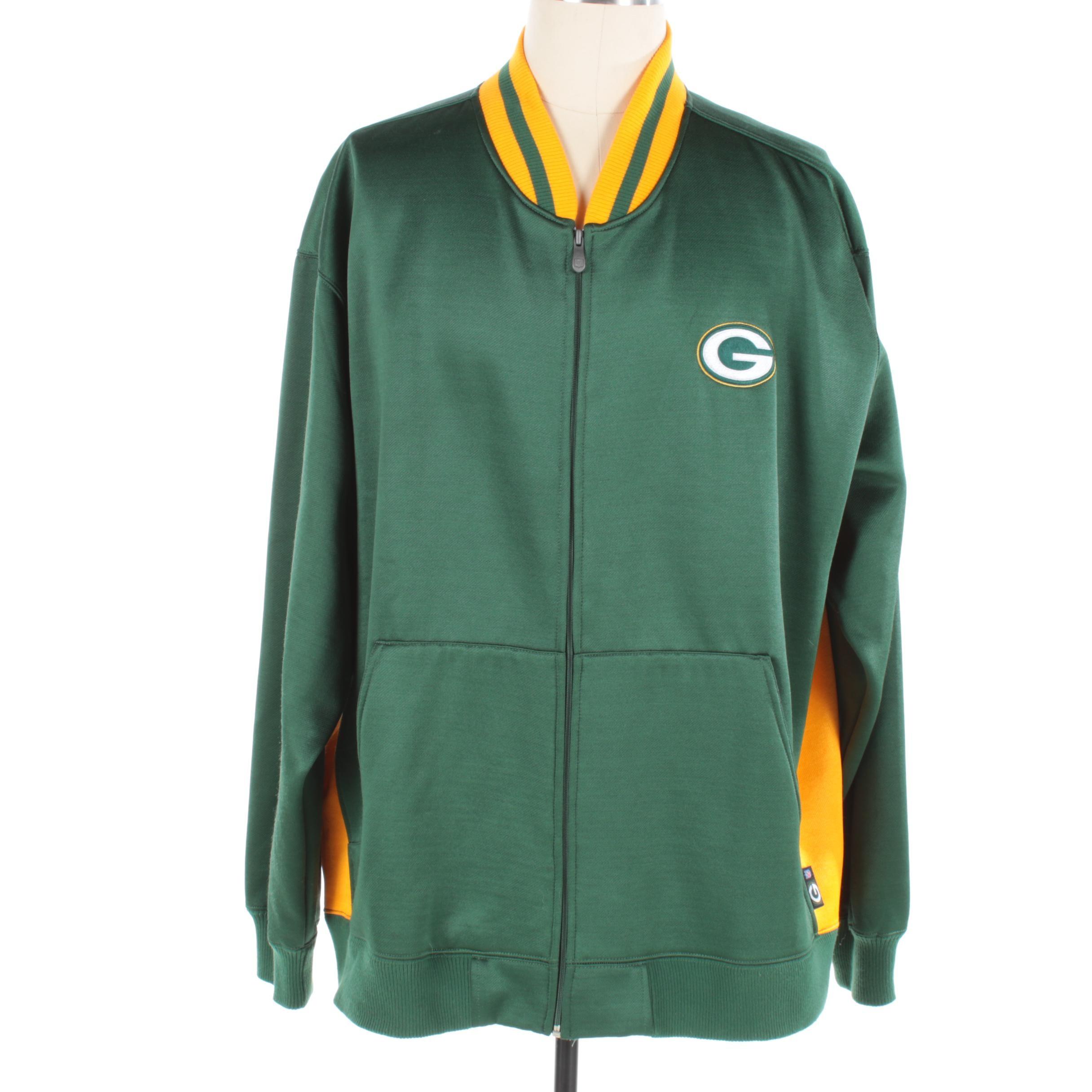 Men's Reebok Green Bay Packers Zip-Front Jacket