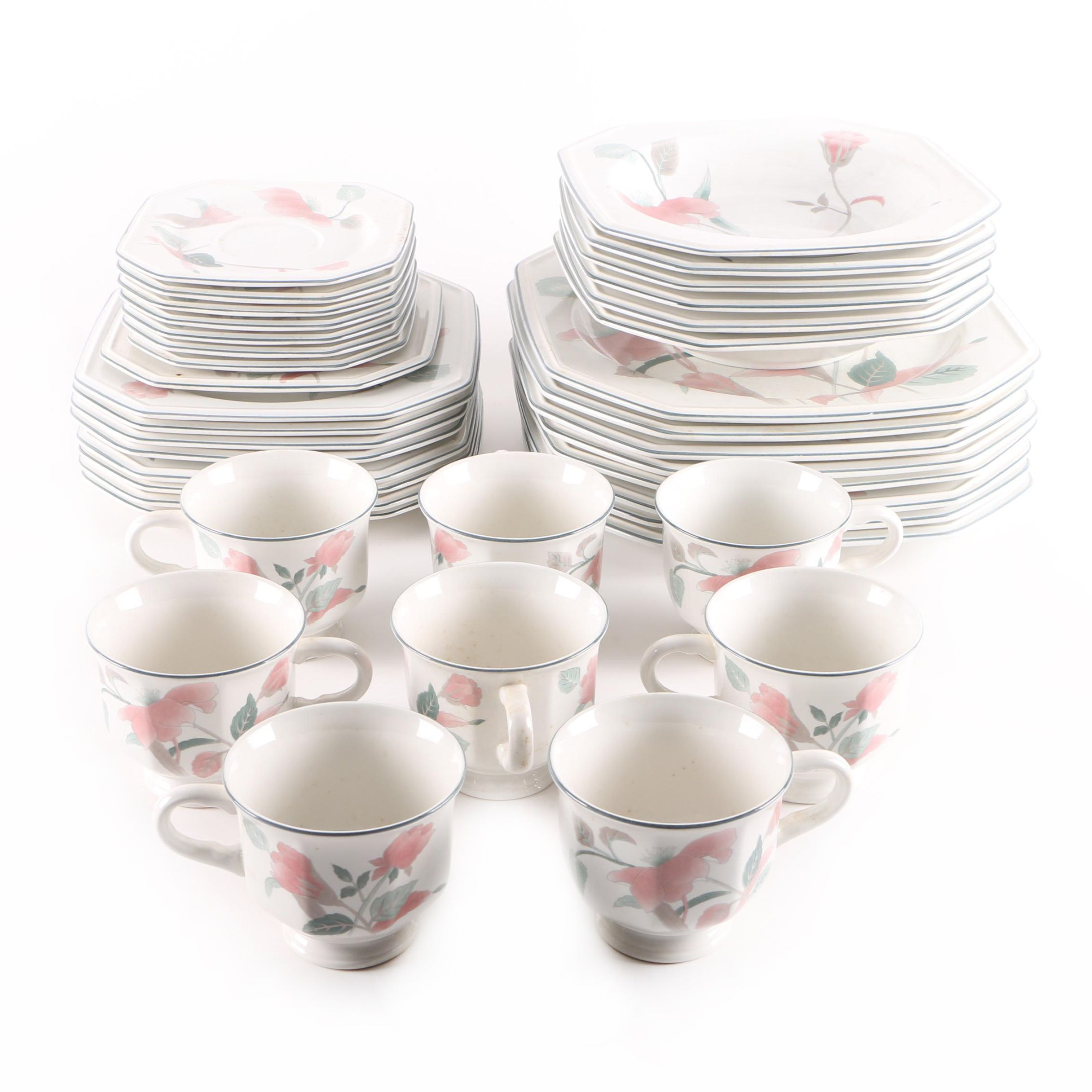 "Mikasa ""Silk Flowers"" Porcelain Tableware"