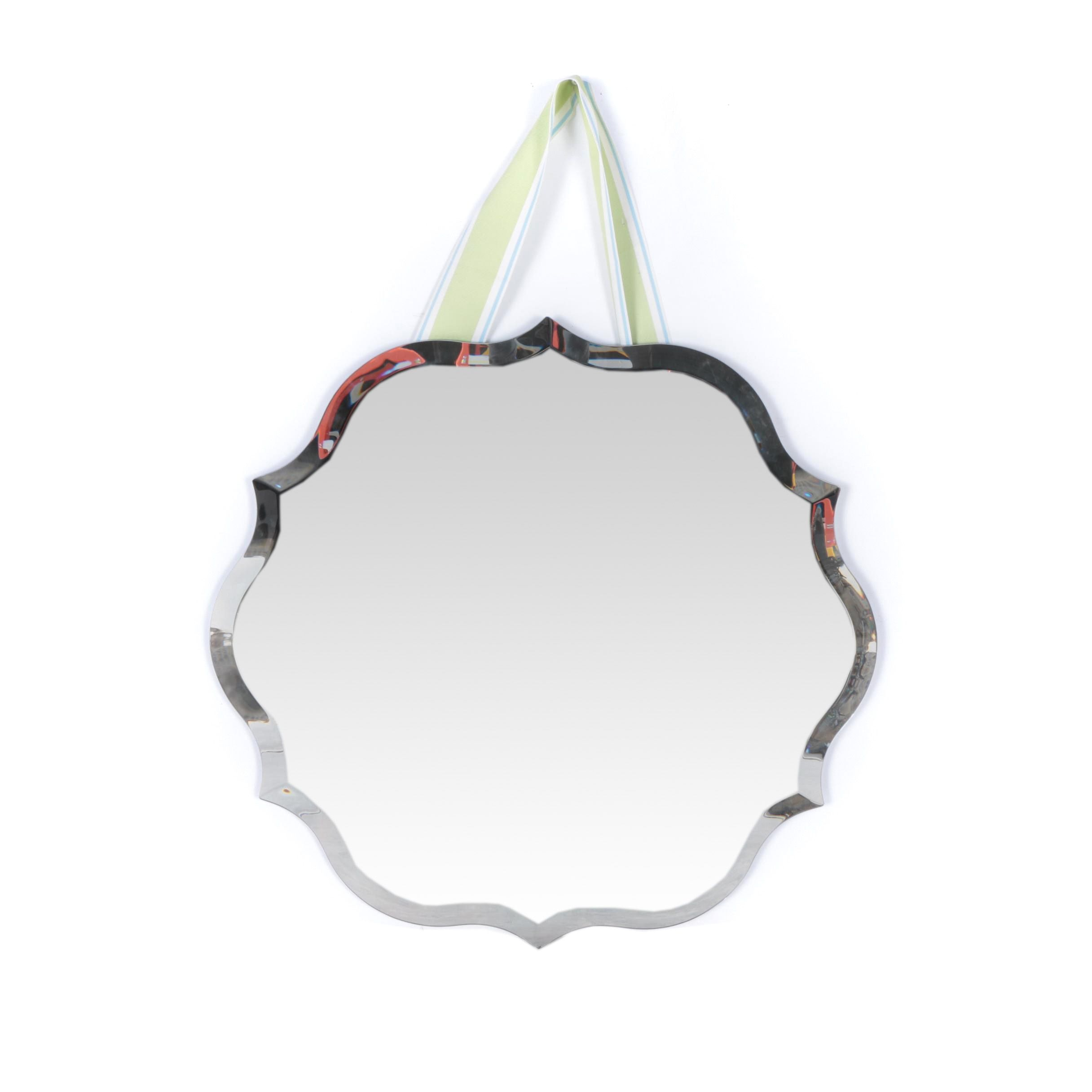 Decorative Mirror with Visible Cloth Hanger