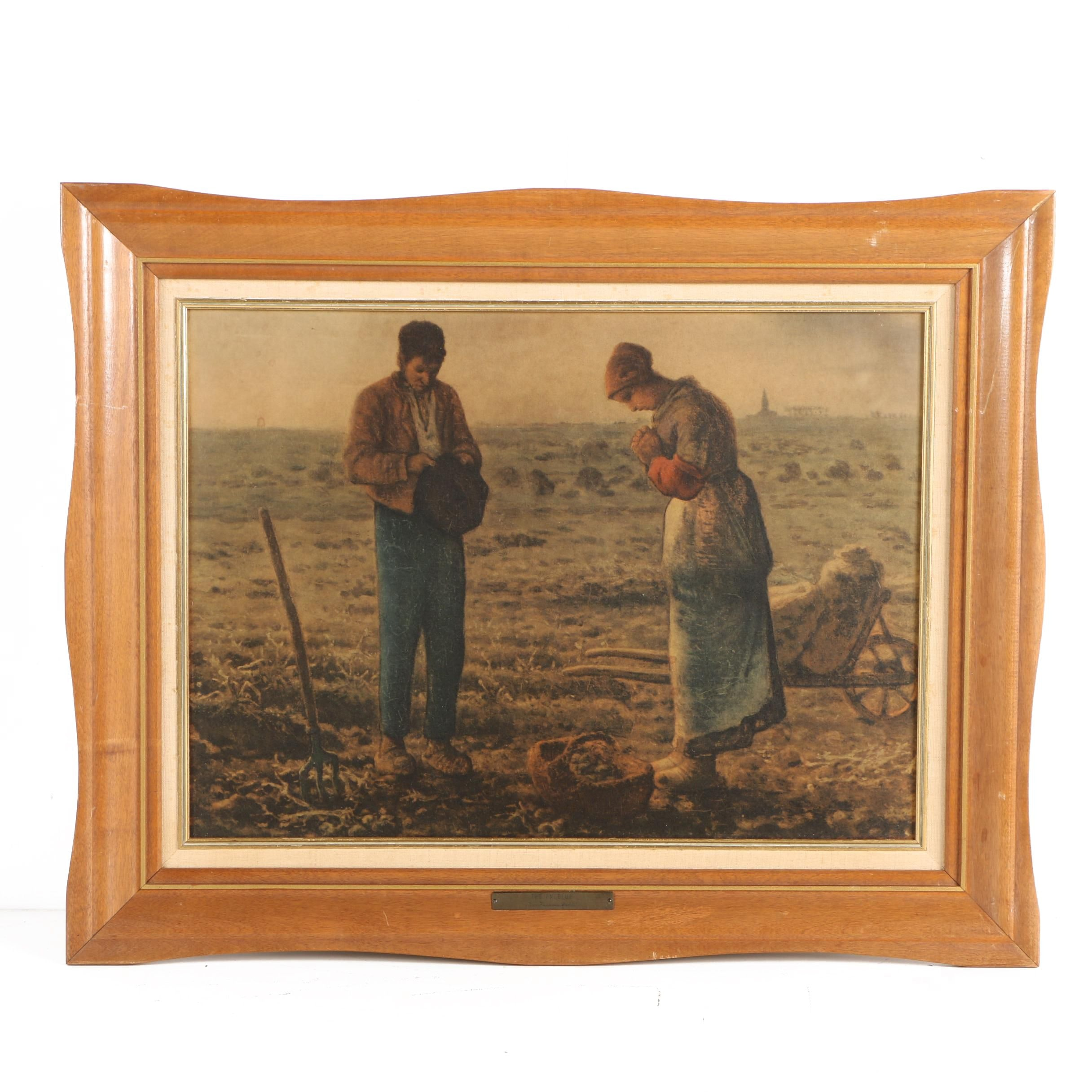 """Offset Lithographic Print After Jean-François Millet """"The Angelus"""""""