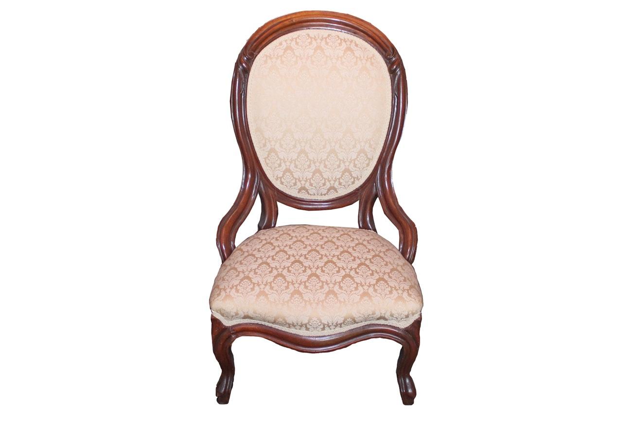Rococo Revival Victorian Armchair