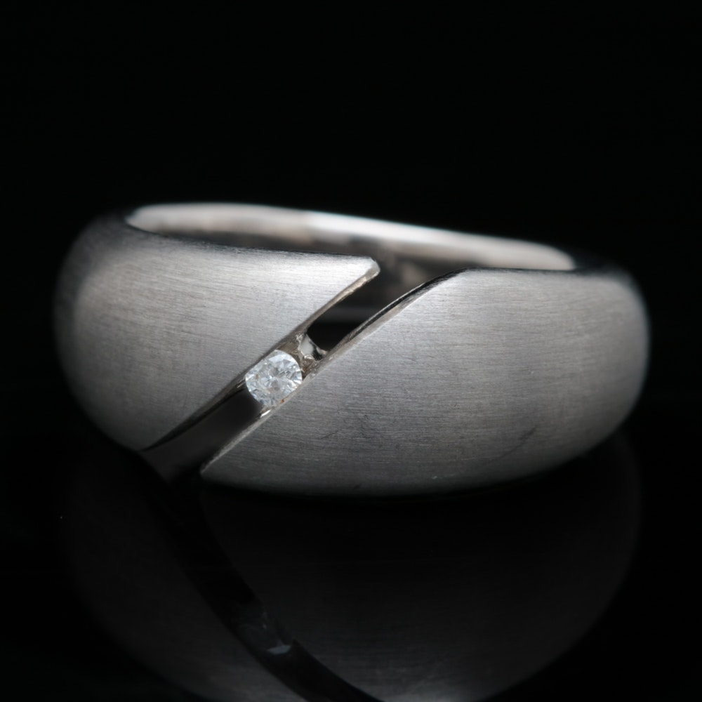 Bastian Sterling Silver and Diamond Ring