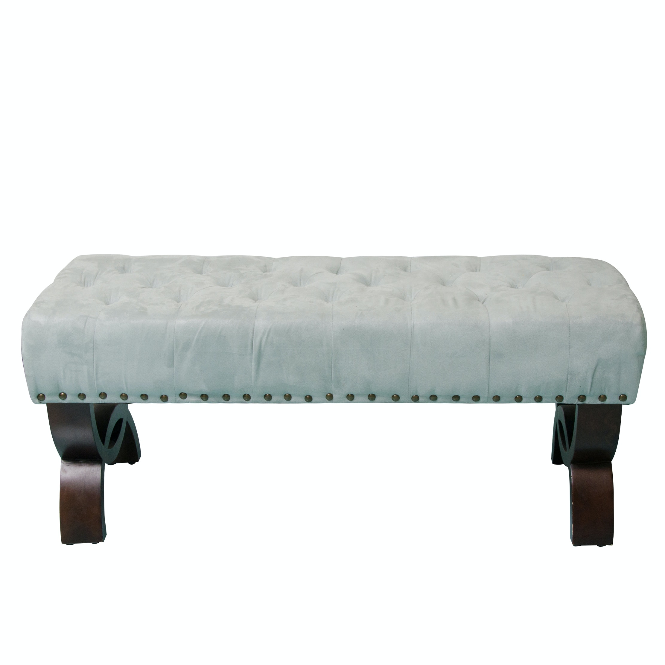 Button Tufted Bench