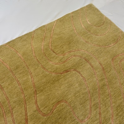Hand-Knotted Tibetan Wool and Viscose Area Rug