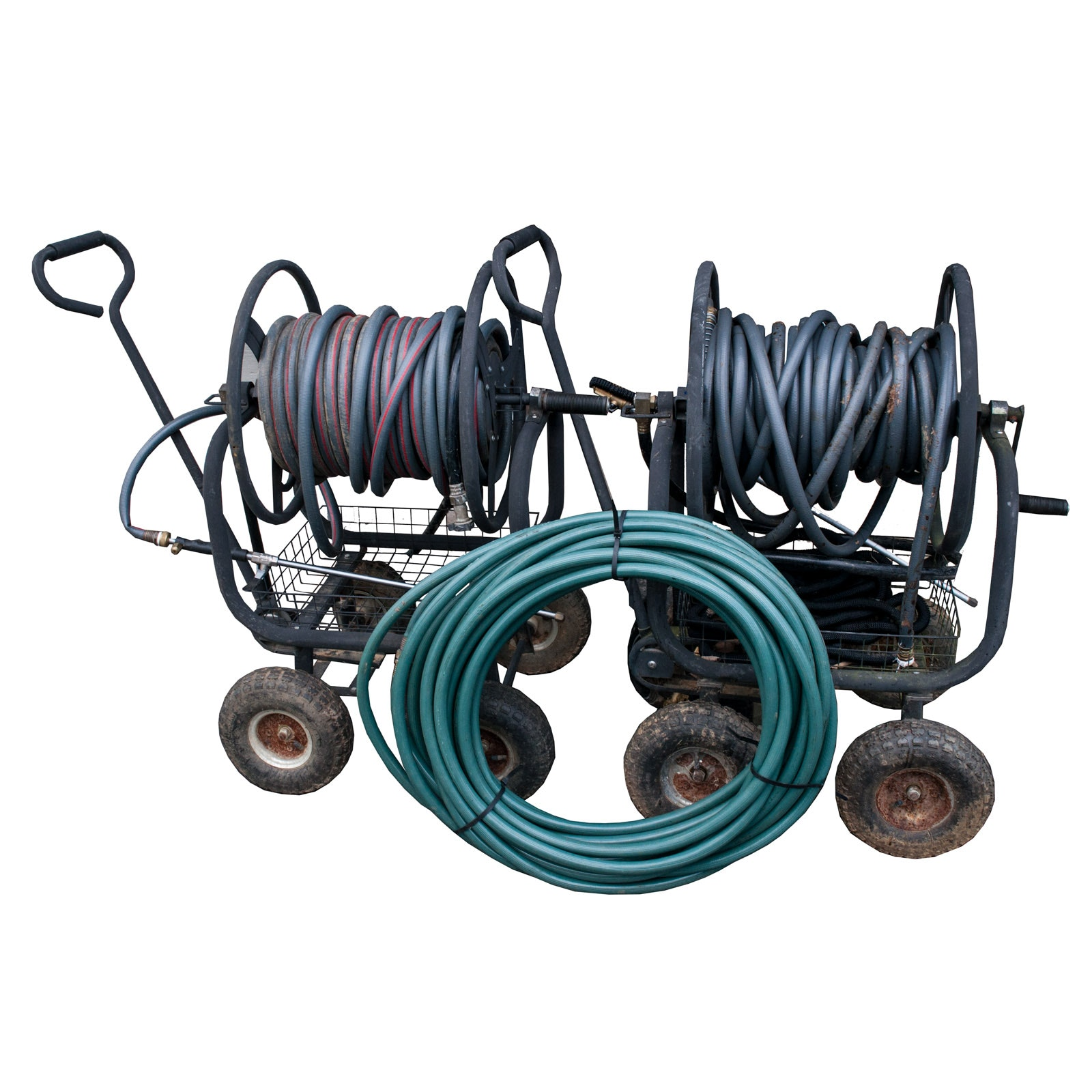 Rankam Water Hose Reel Carts with Pressure Wash Nozzles