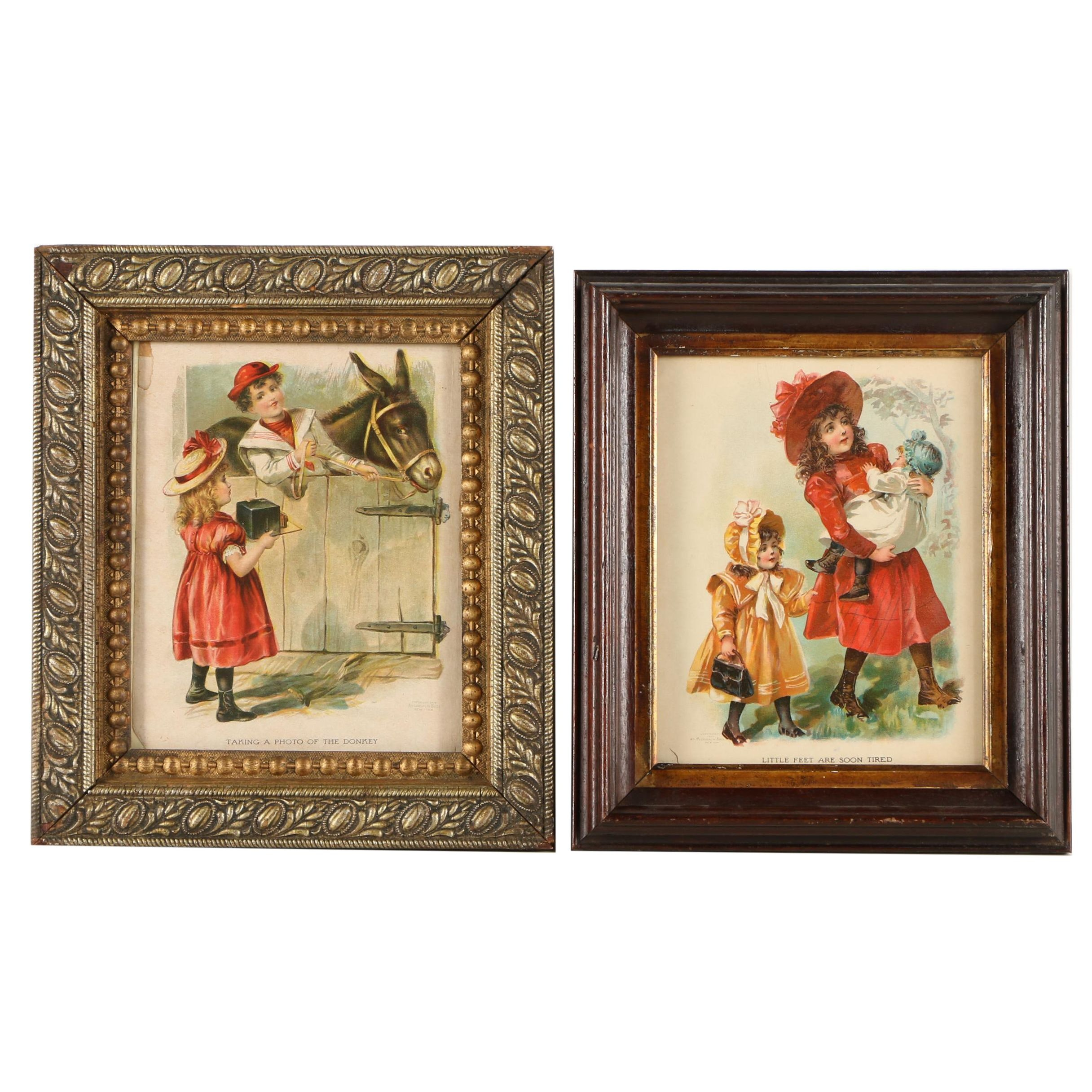Pair of McLoughlin Bros. Chromolithographs