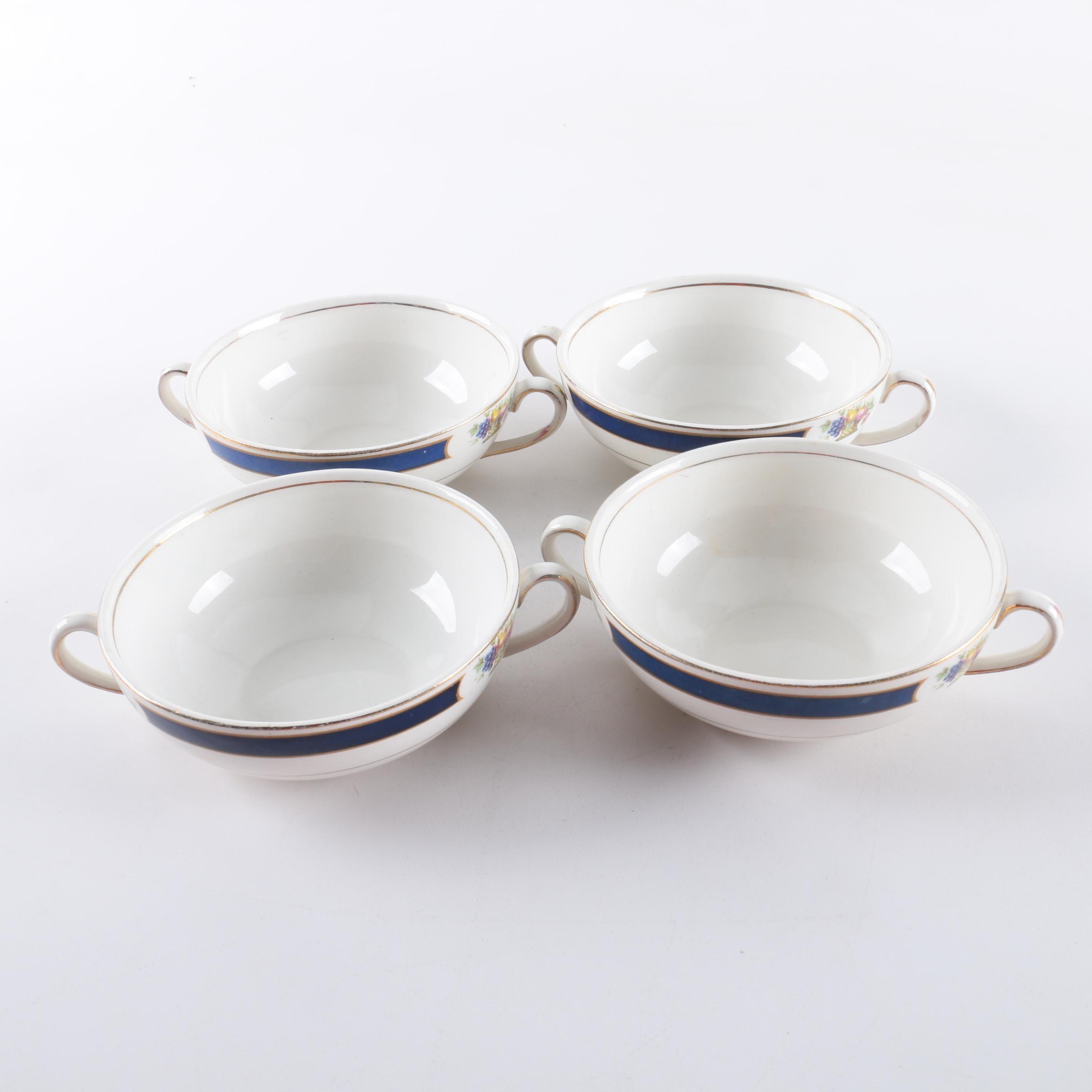 Vintage Porcelain Cream Soup Bowls