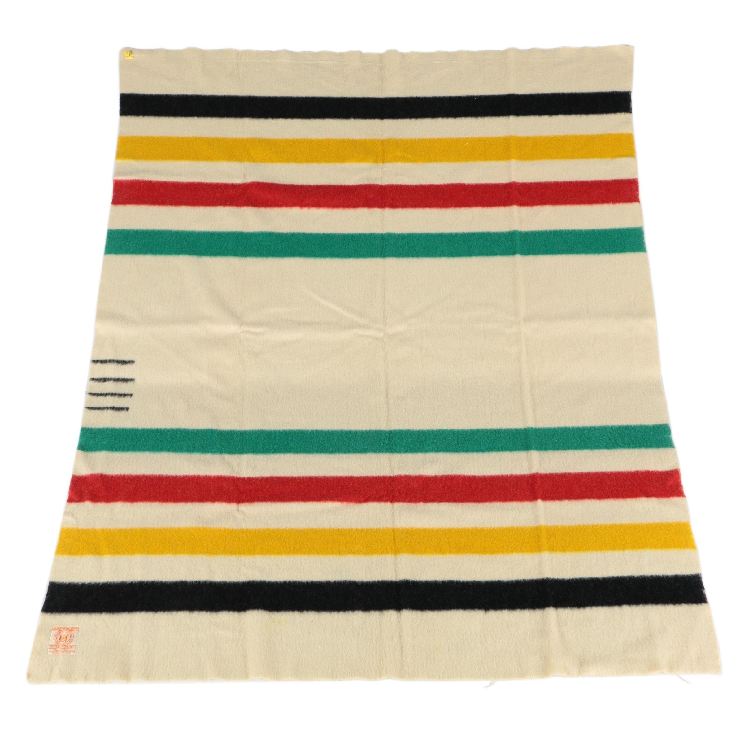 Vintage Hudson's Bay Point Wool Blanket