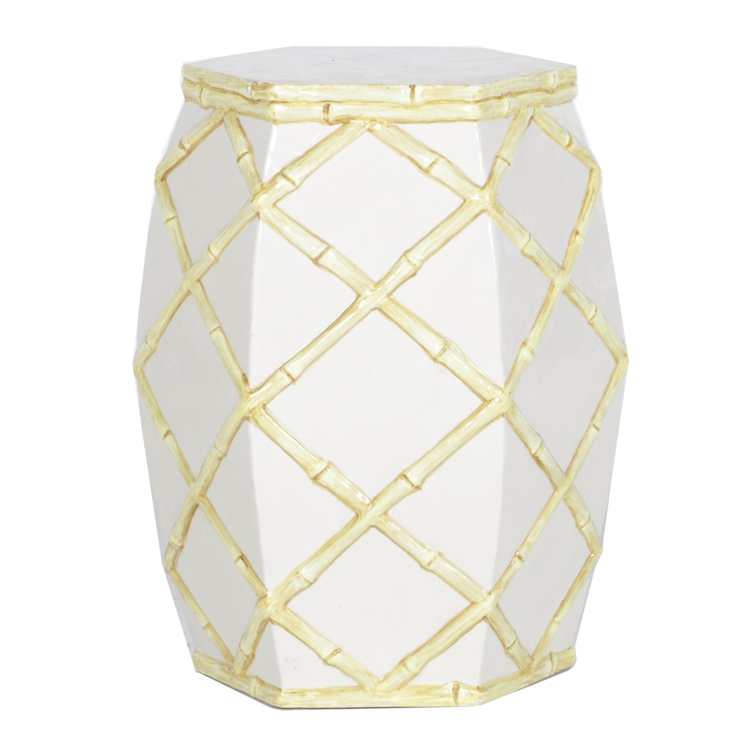 White Ceramic Garden Stool