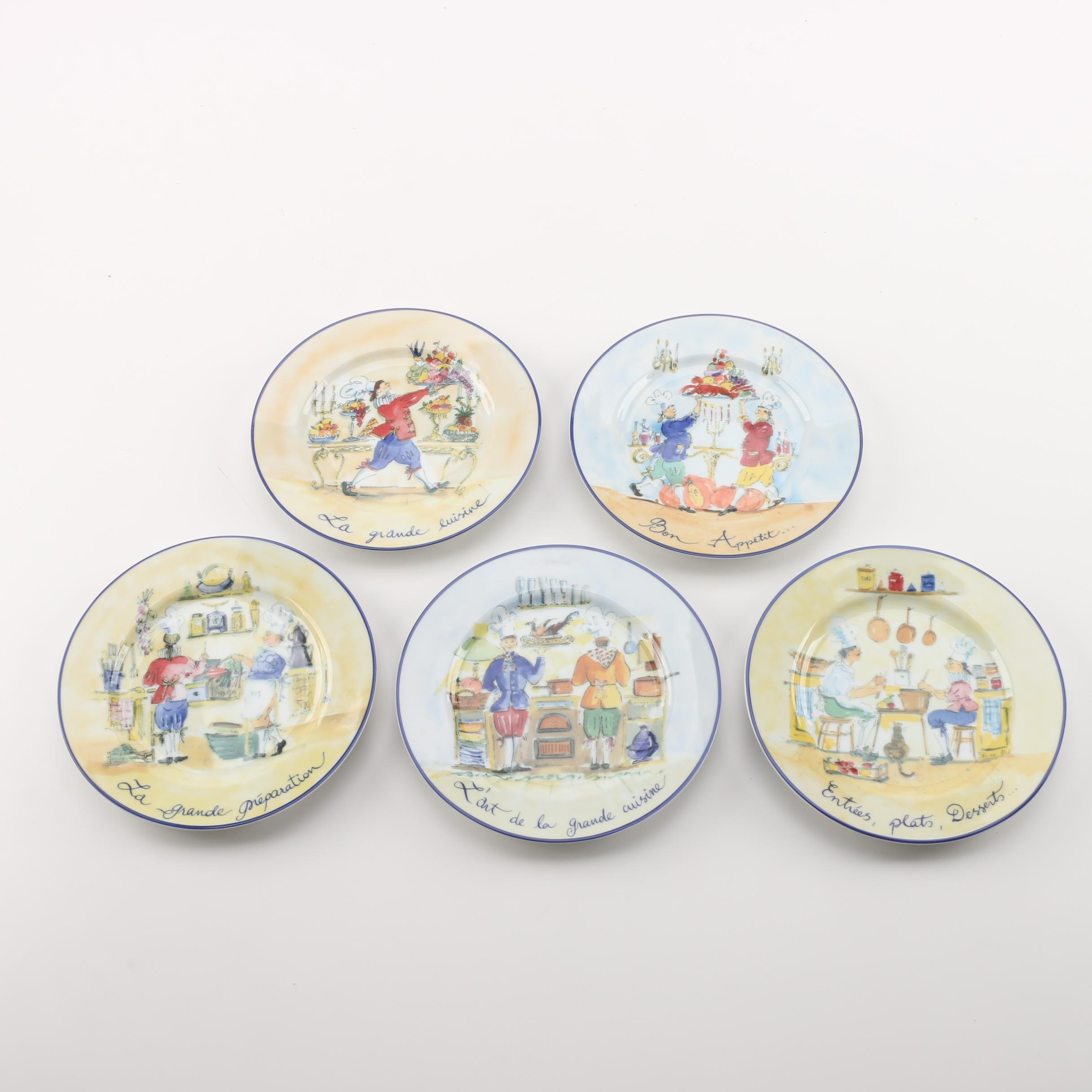 "Williams Sonoma ""French Chefs""  Salad Plates"