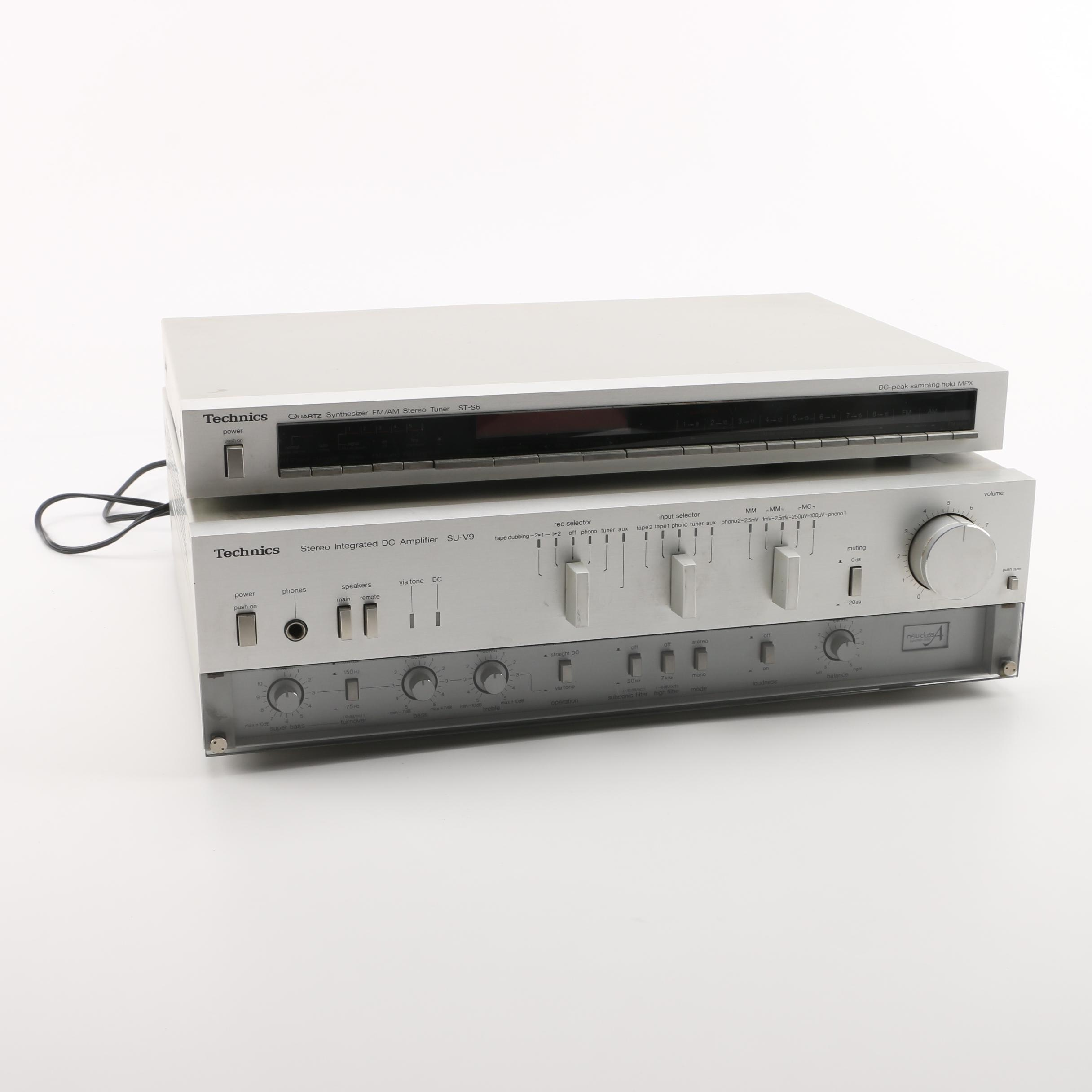 Technics Amplifier and FM/AM Stereo Tuner Synthesizer