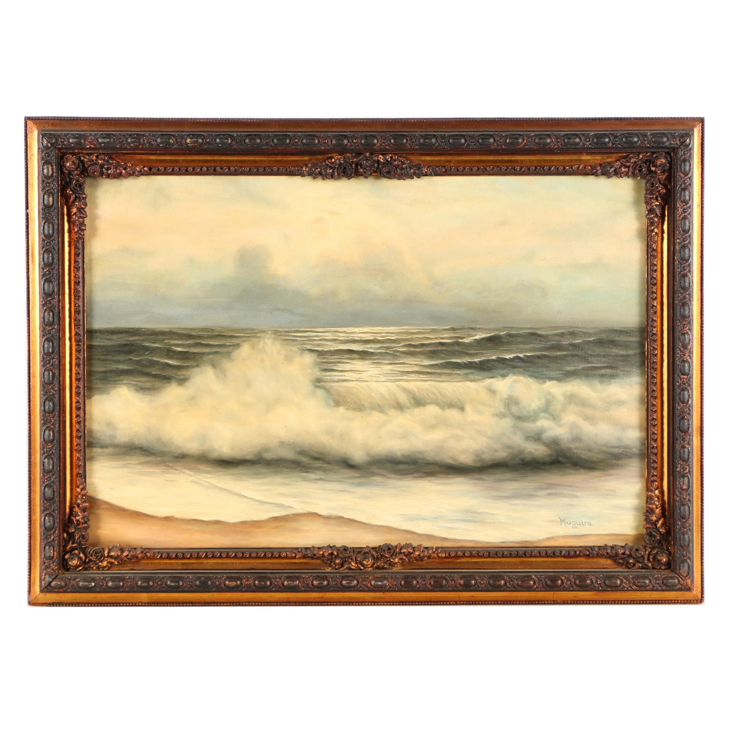 Muguiro Oil Painting of a Beach