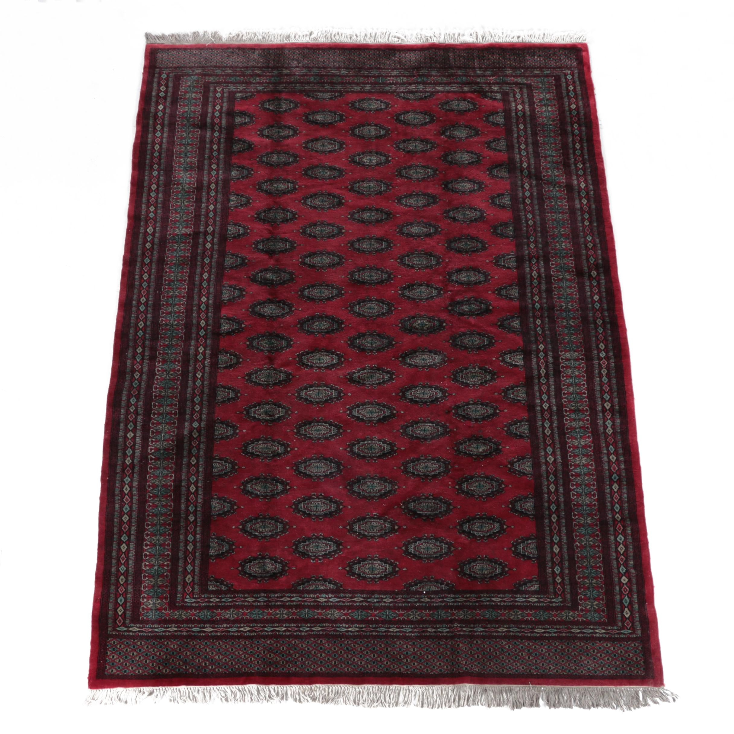 Finely Hand Knotted Wool Bokhara Area Rug