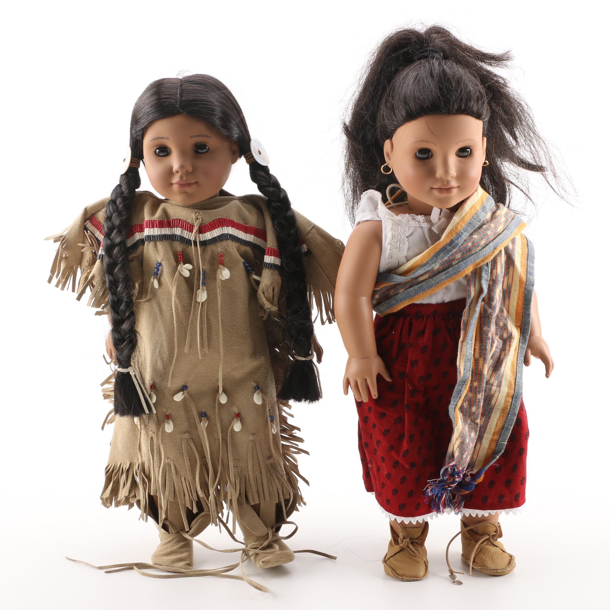 "American Girl ""Kaya"" and Josefina"" Dolls"