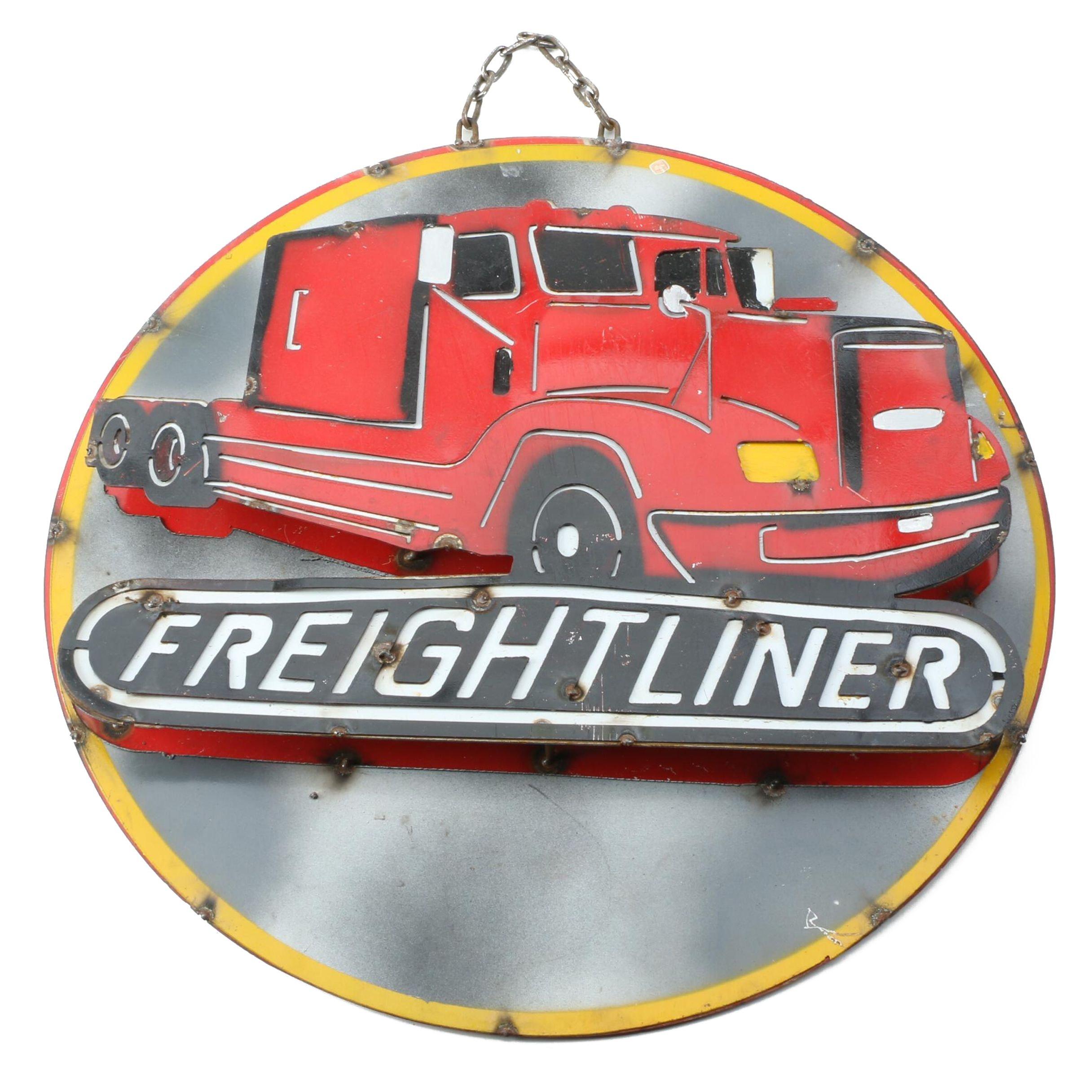 Freightliner Metal Sign