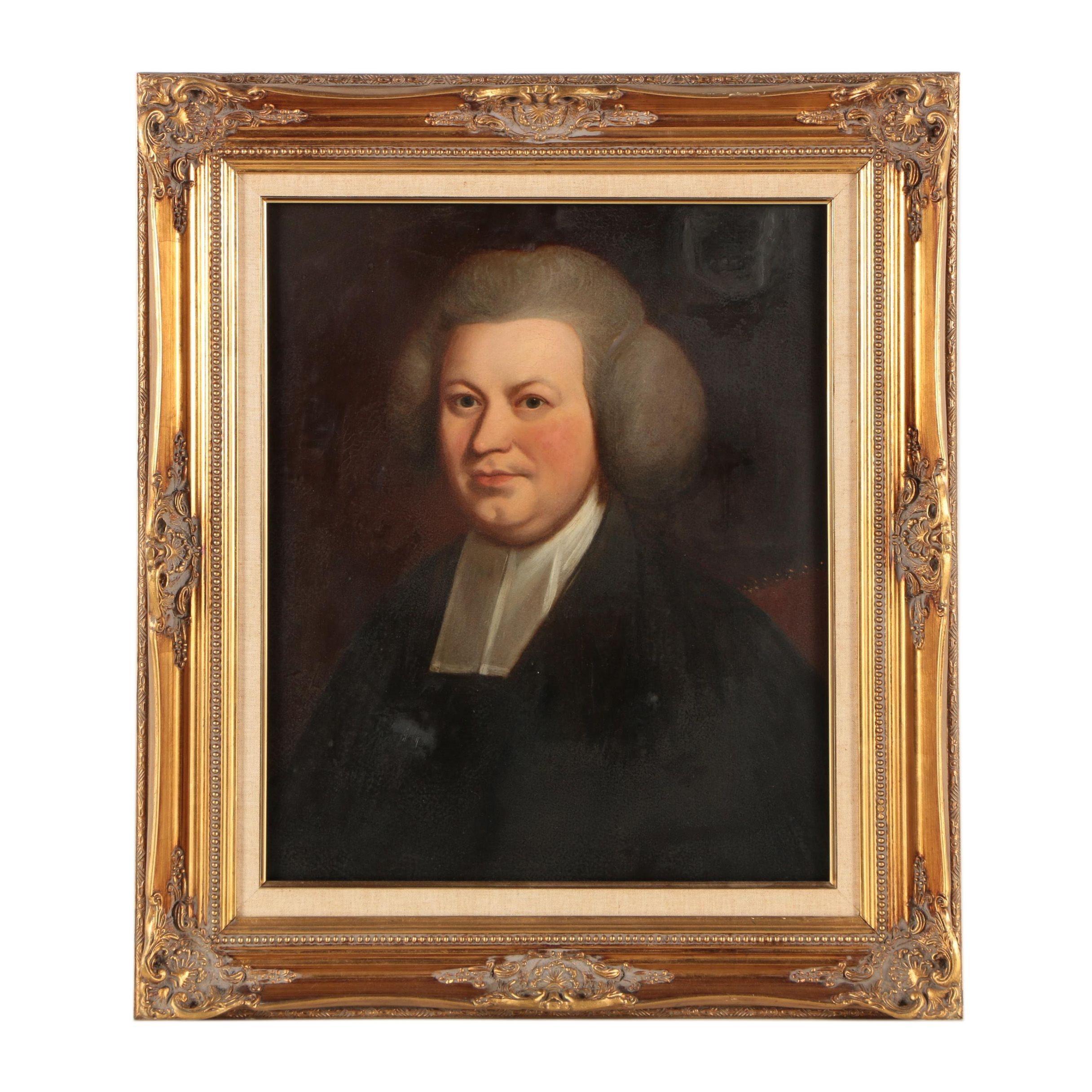 Antique European Oil Painting Portrait
