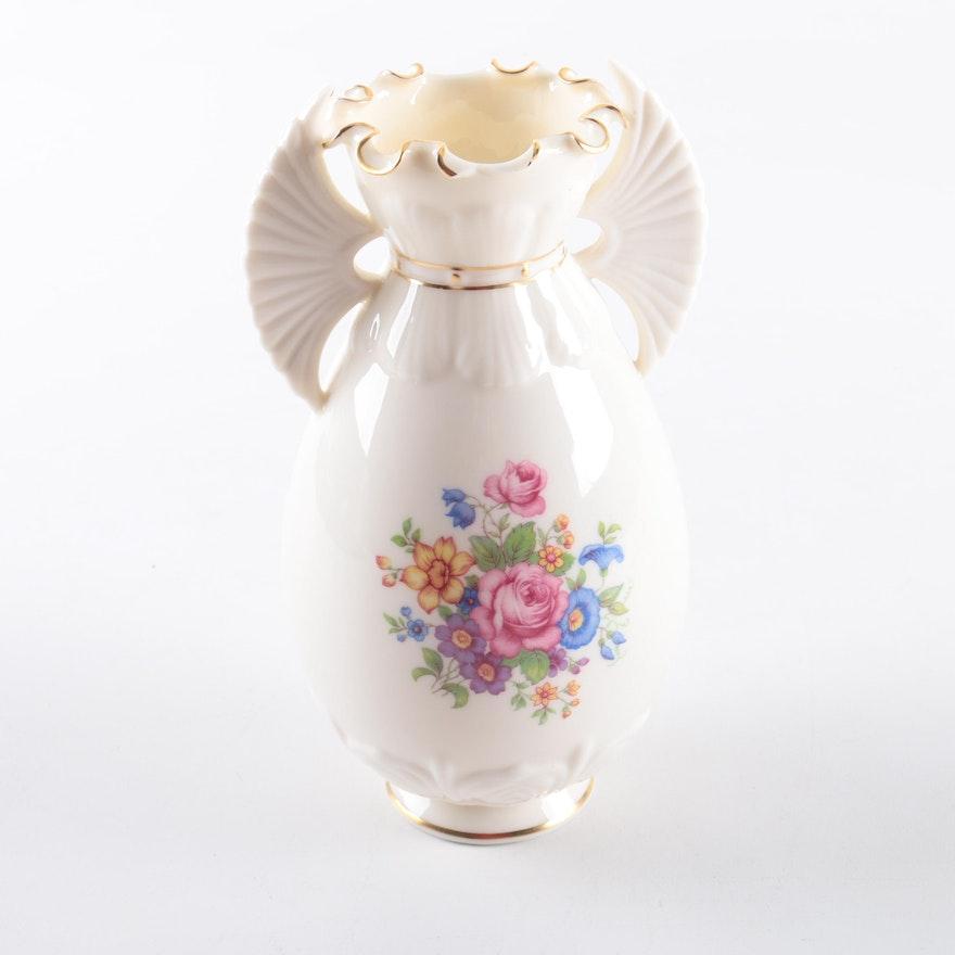 Lenox Porcelain Lenox Rose Vase Ebth