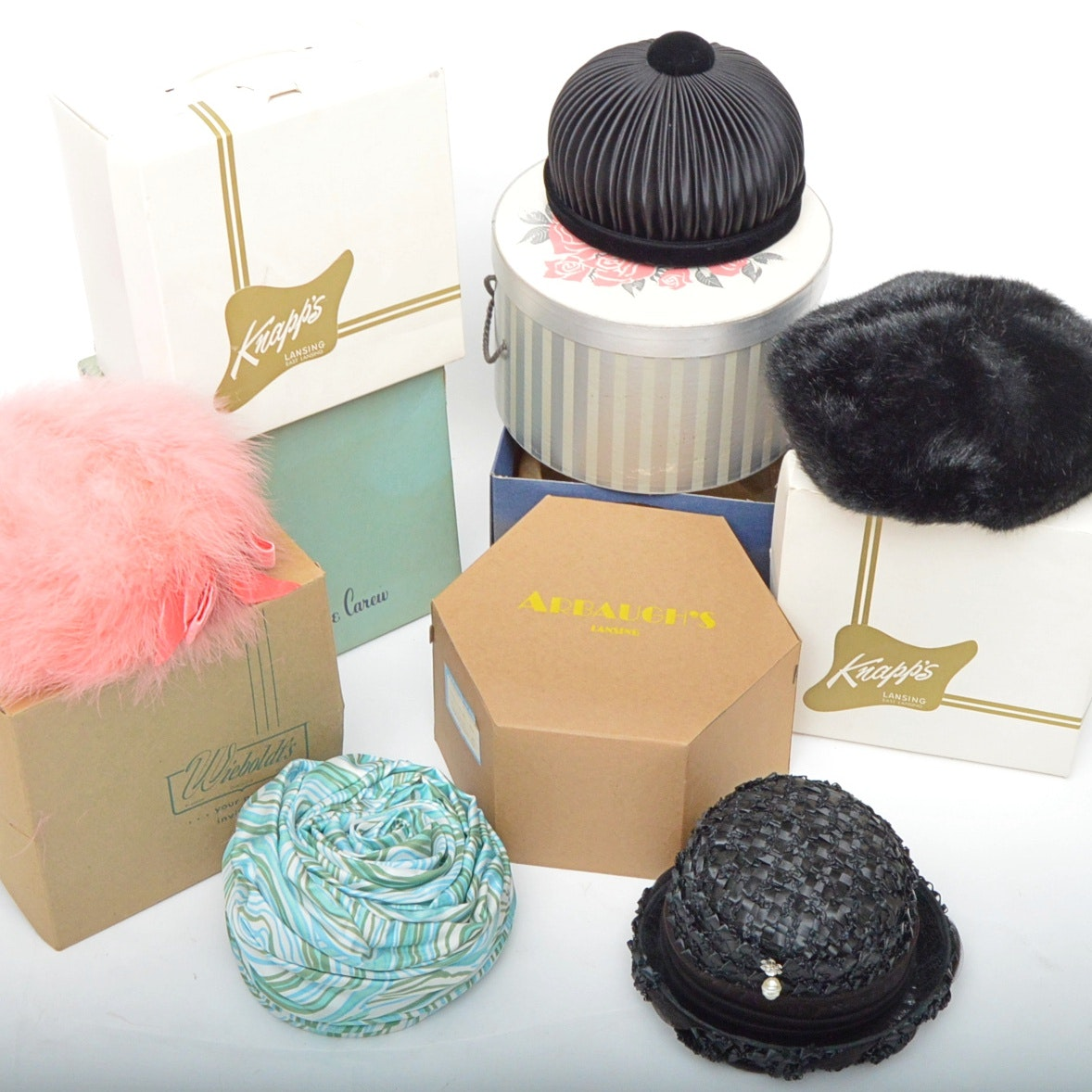 Vintage Women's Hat and Hatboxes